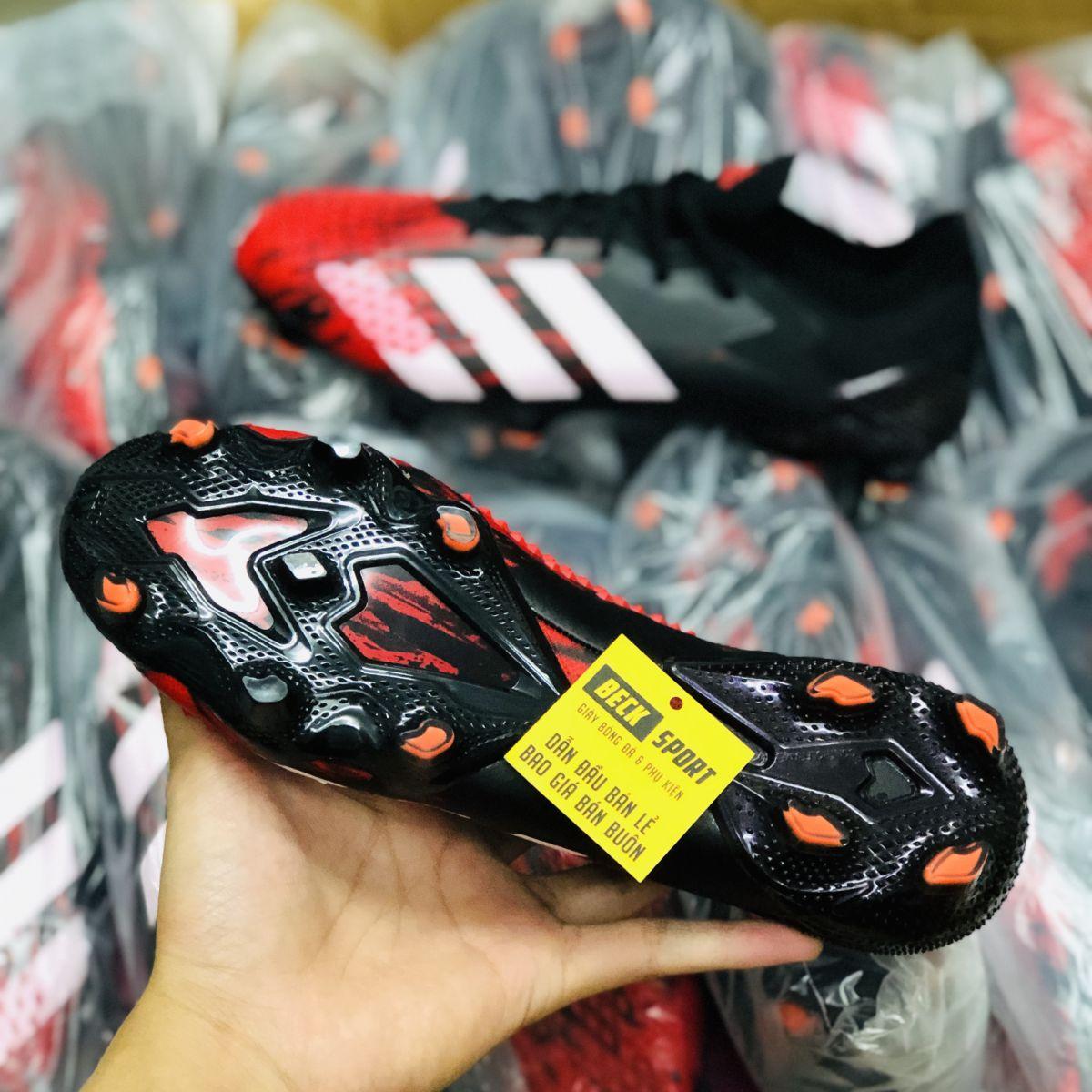 Giày Bóng Đá Adidas Predator 20.1 Mutator Đen Mũi Đỏ Vạch Trắng FG