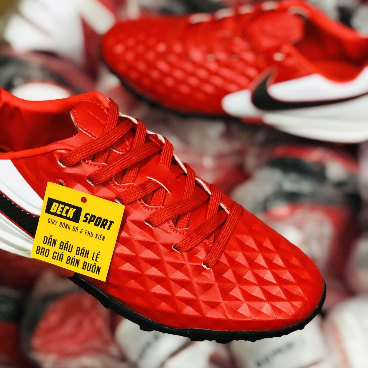 Giày Bóng Đá Nike Tiempo Legend 8 Pro Đỏ Gót Trắng Vạch Đen HQ TF