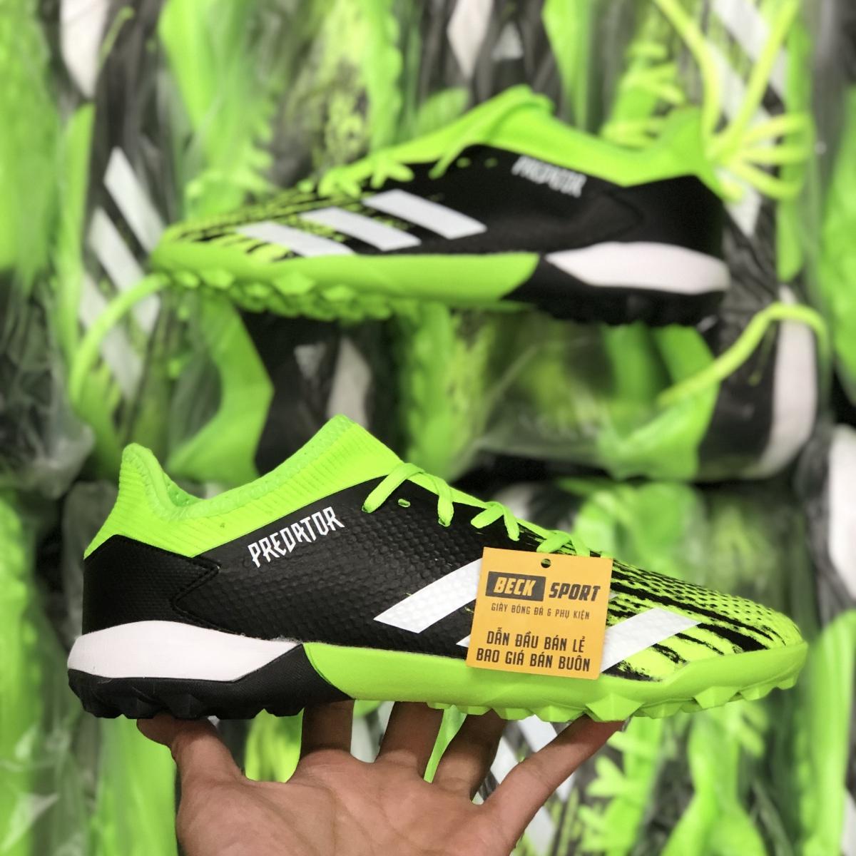 Giày Bóng Đá Adidas X 19.1 Xanh Biển Vạch Đen Gót Trắng V2 TF