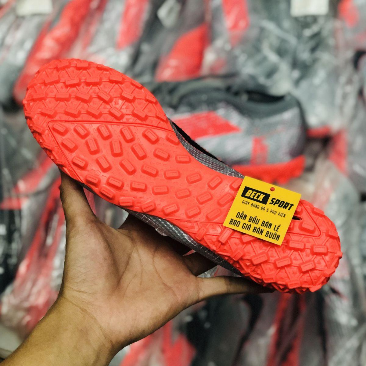 Giày Bóng Đá Nike Mercurial Vapor 13 Elite Xám Hồng Vạch Đen TF