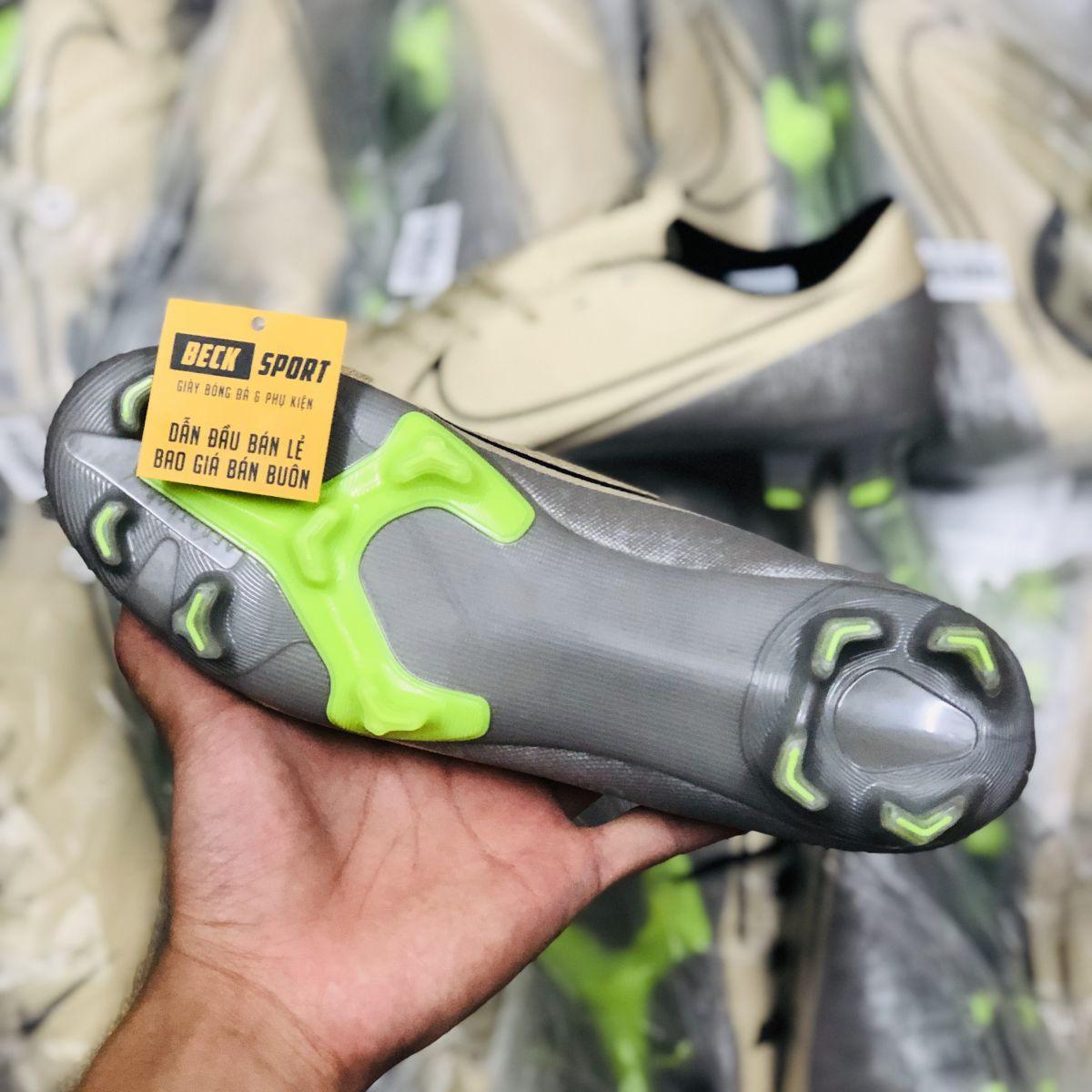 Giày Bóng Đá Nike Mercurial 13 Academy Nâu Sữa Vạch Đen FG
