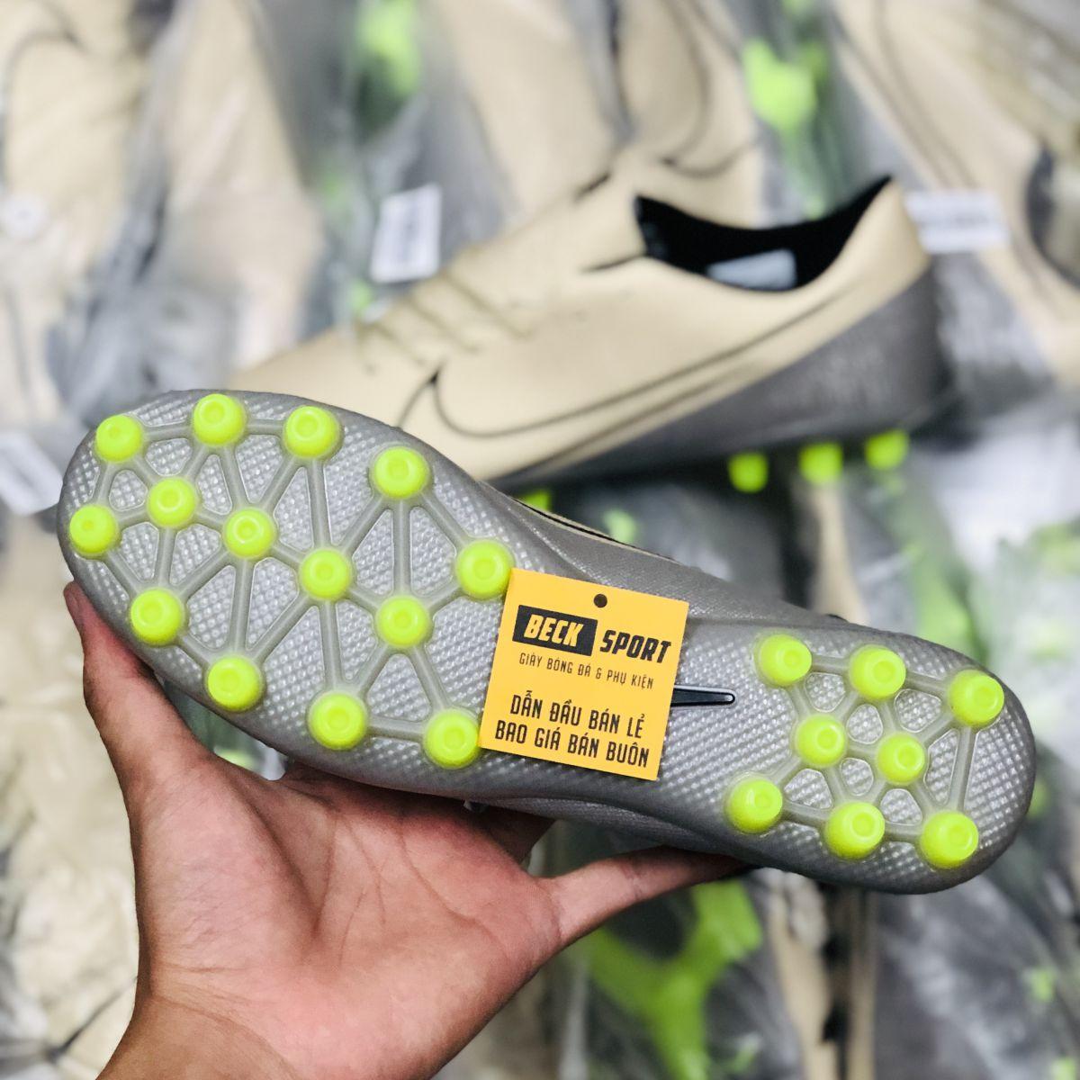 Giày Bóng Đá Nike Mercurial 13 Academy Nâu Sữa Vạch Đen AG