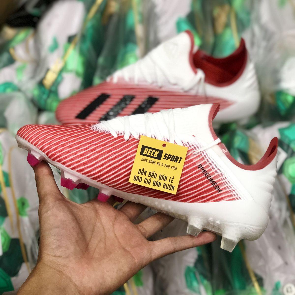 Giày Bóng Đá Adidas X 19.1 Đỏ Vạch Đen Gót Trắng FG