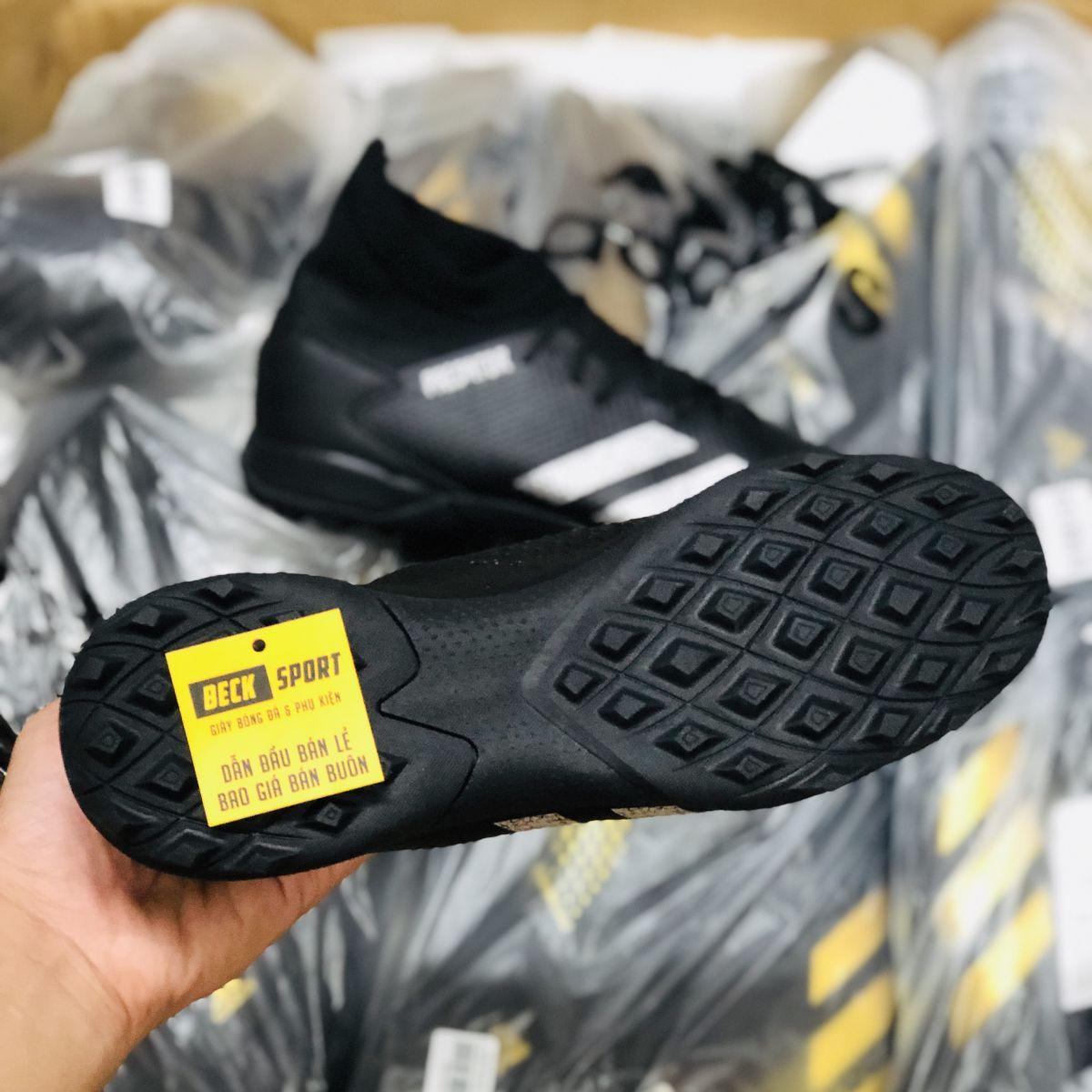 Giày Bóng Đá Adidas Predator 20.3 Đen Vạch Bạc Cổ Cao TF