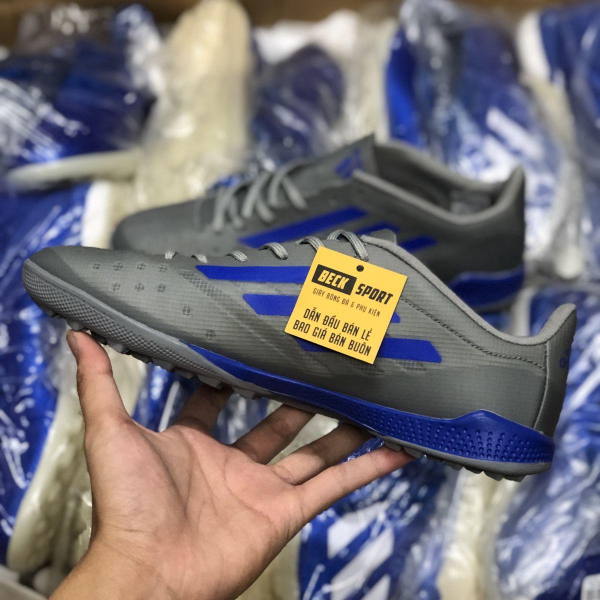 Giày Bóng Đá Adidas X 99.1 Xám Vạch Xanh Biển TF