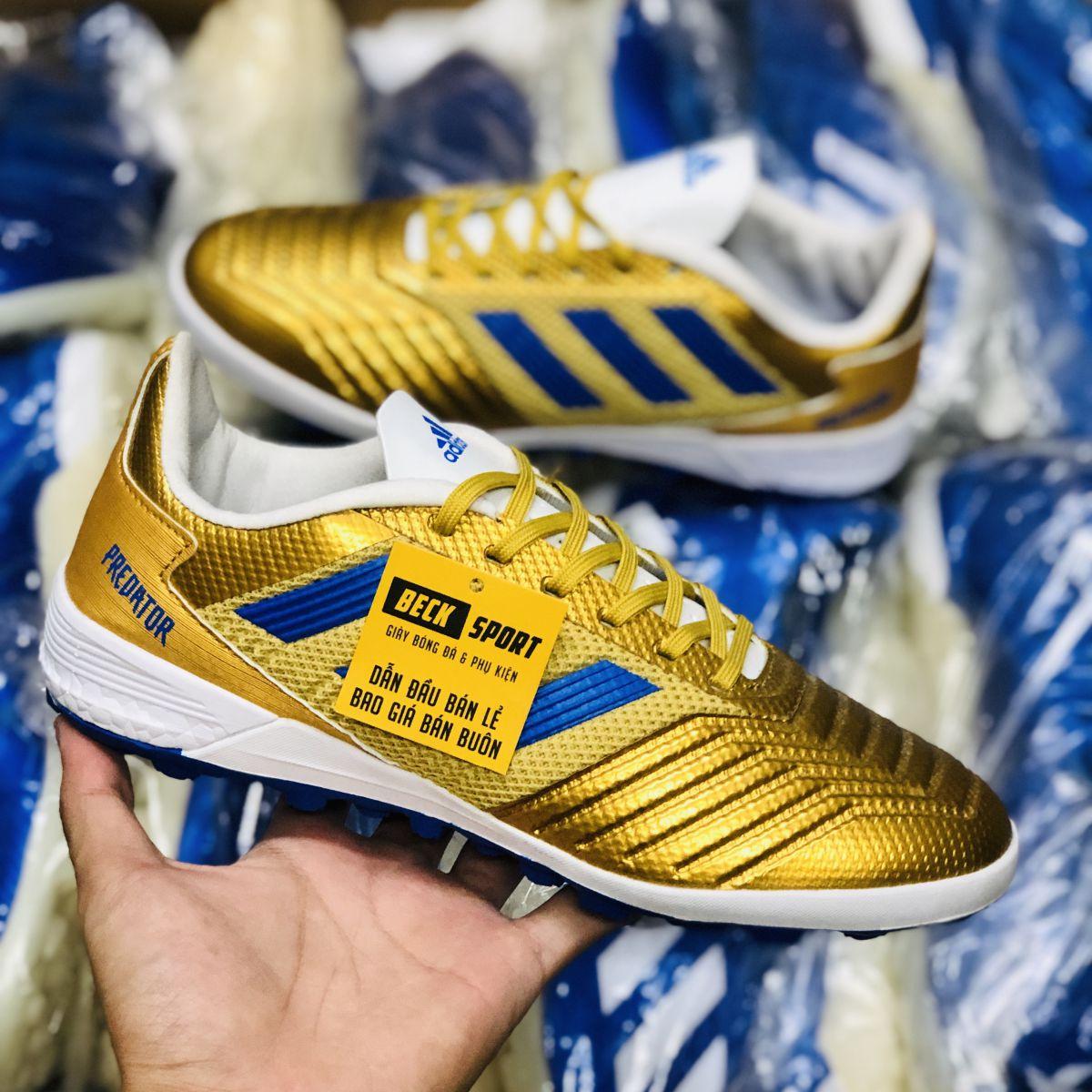 Giày Bóng Đá Adidas Predator 19.3 Đồng Vạch Xanh Biển Đế Boost V2 TF