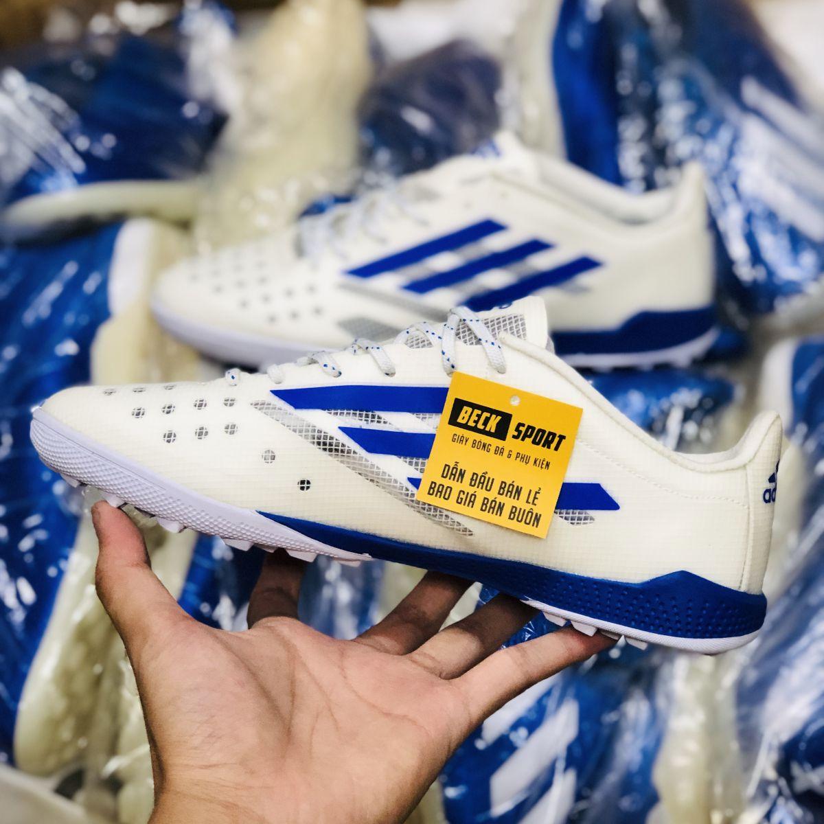 Giày Bóng Đá Adidas X 99.1 Trắng Vạch Xanh Biển TF