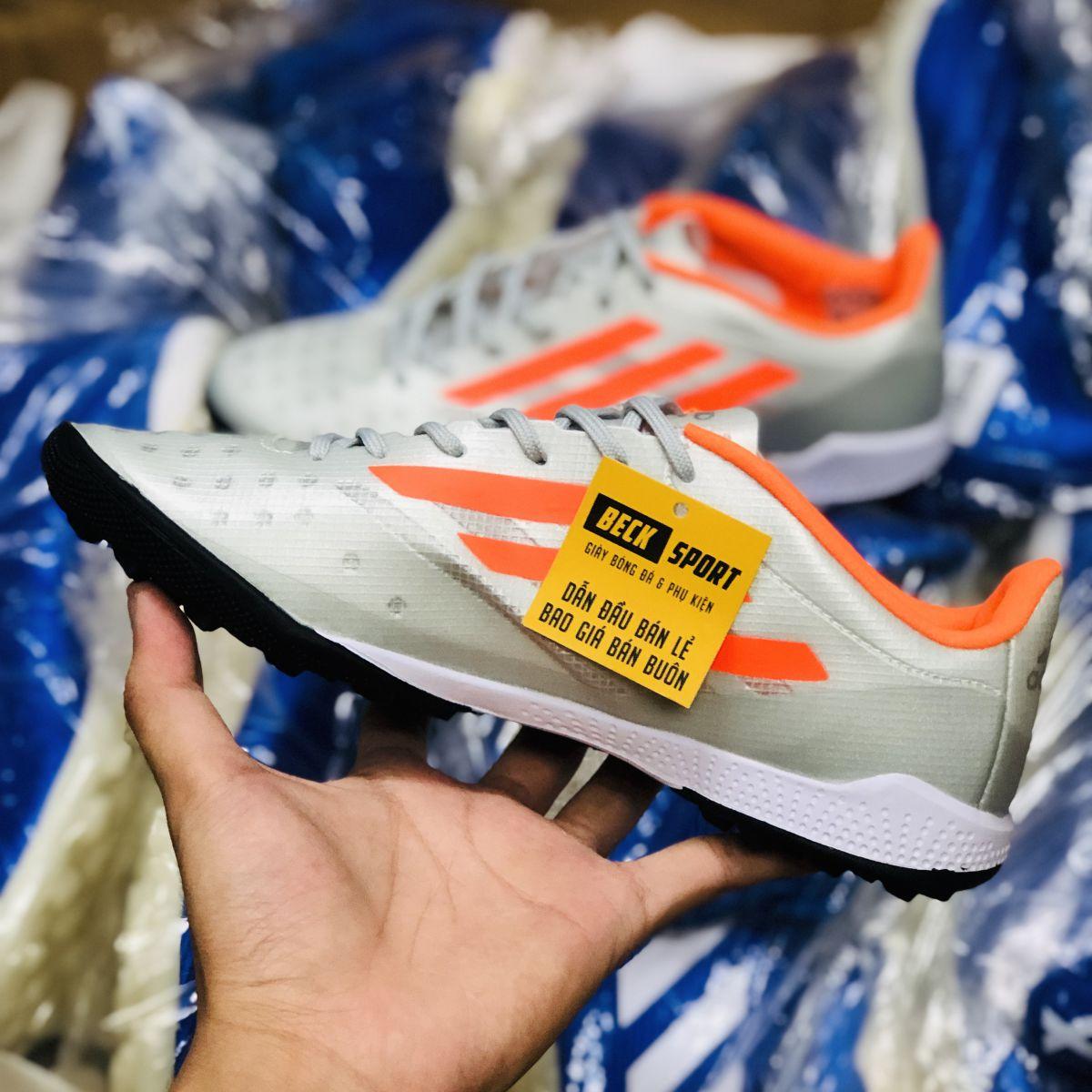 Giày Bóng Đá Adidas X 99.1 Xám Vạch Cam TF