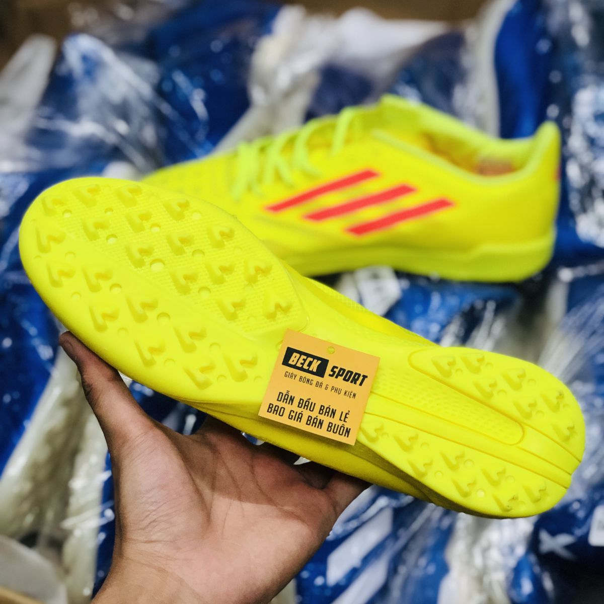 Giày Bóng Đá Adidas X 99.1 Vàng Vạch Đỏ TF