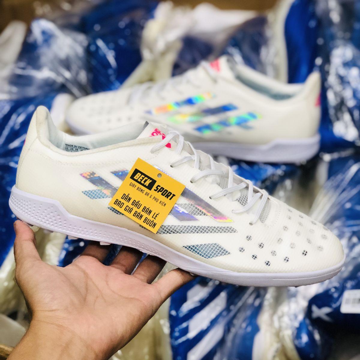 Giày Bóng Đá Adidas X 99.1 Trắng Vạch Xám Bóng TF