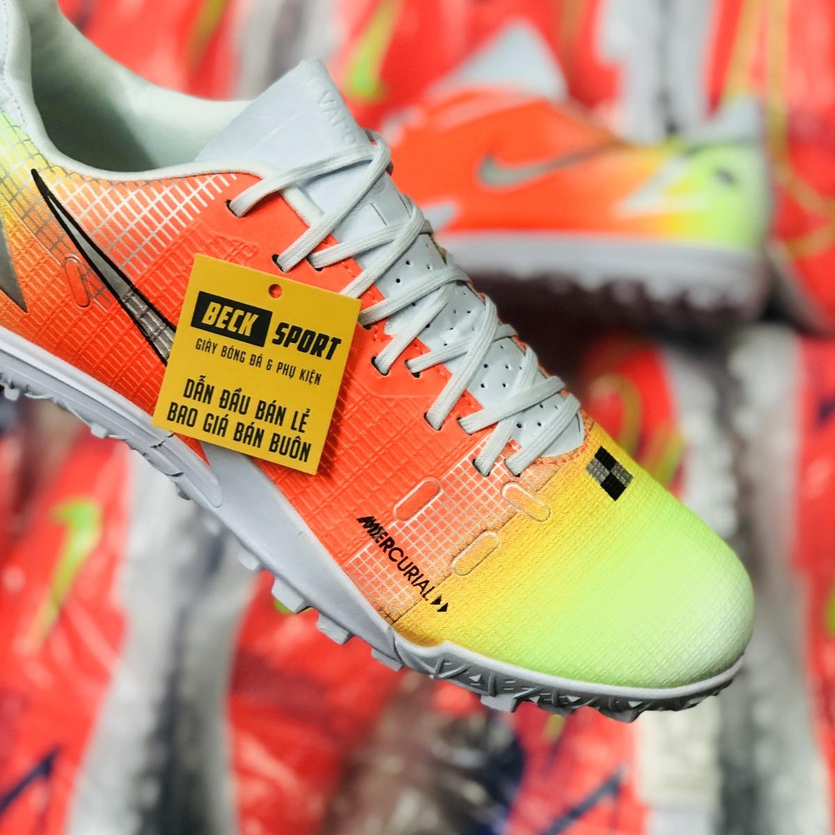 Giày Bóng Đá Nike Mercurial Vapor 14 Academy MDS004 Vàng Cam Trắng V2 TF