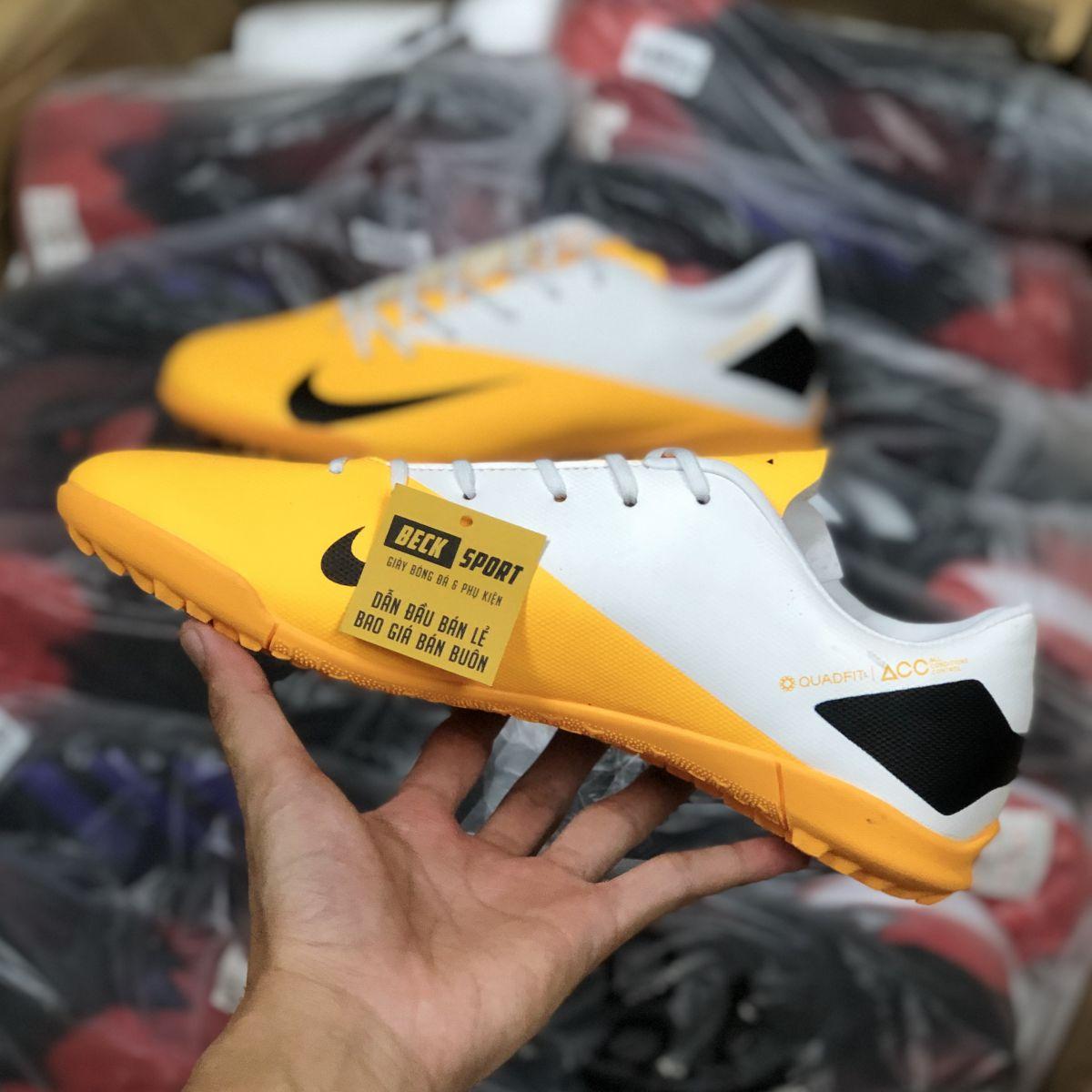 Giày Bóng Đá Nike Phantom VSN II Cam Gót Trắng TF