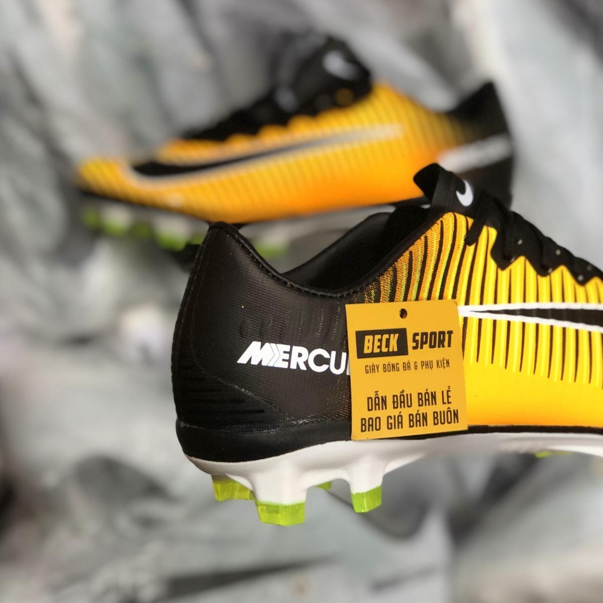 Giày Bóng Đá Nike Mercurial Victory VI Vàng Đen Lưỡi Gà Liền FG