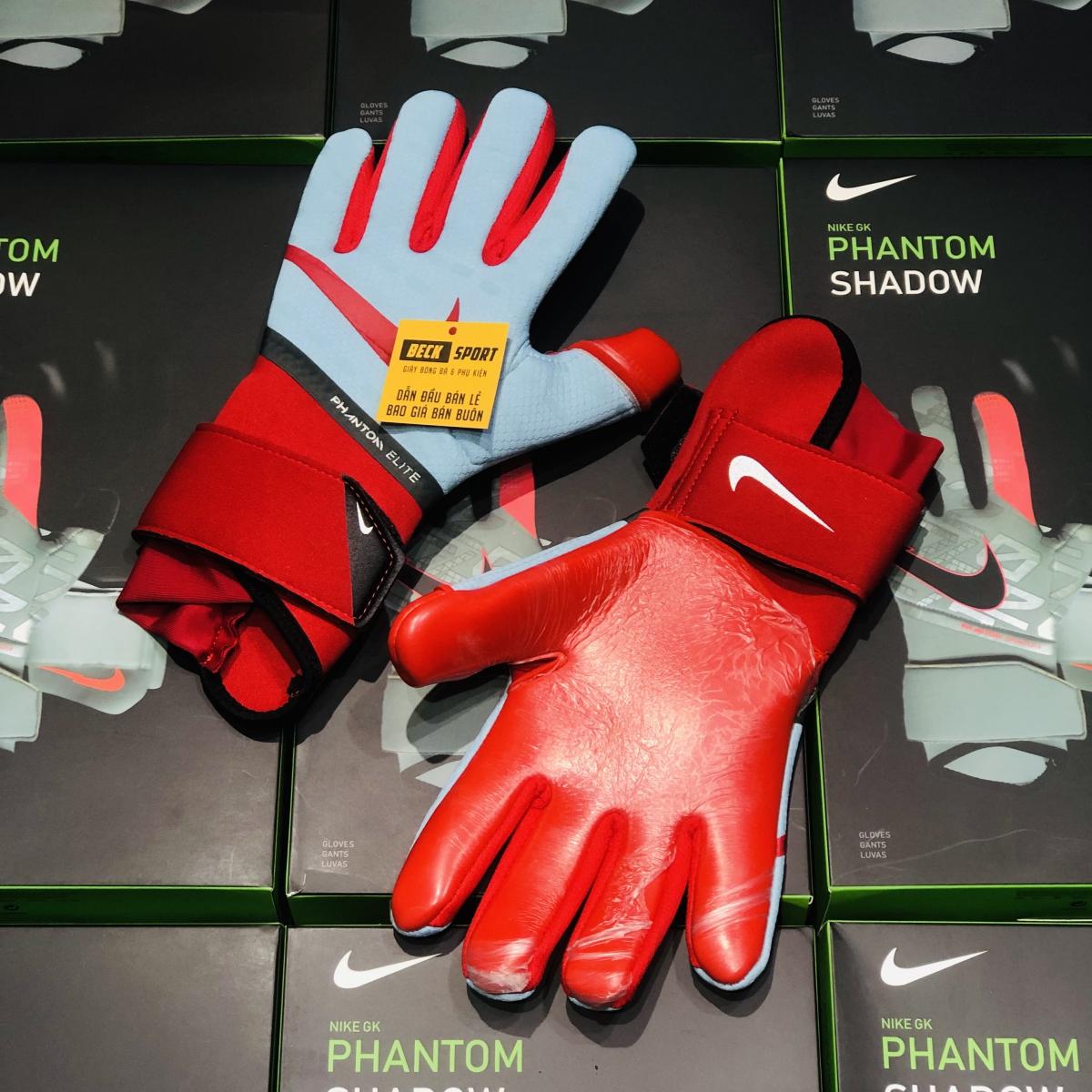 Găng Tay Nike Phantom Elite Xám Xanh Cổ Đỏ ( Không Xương )