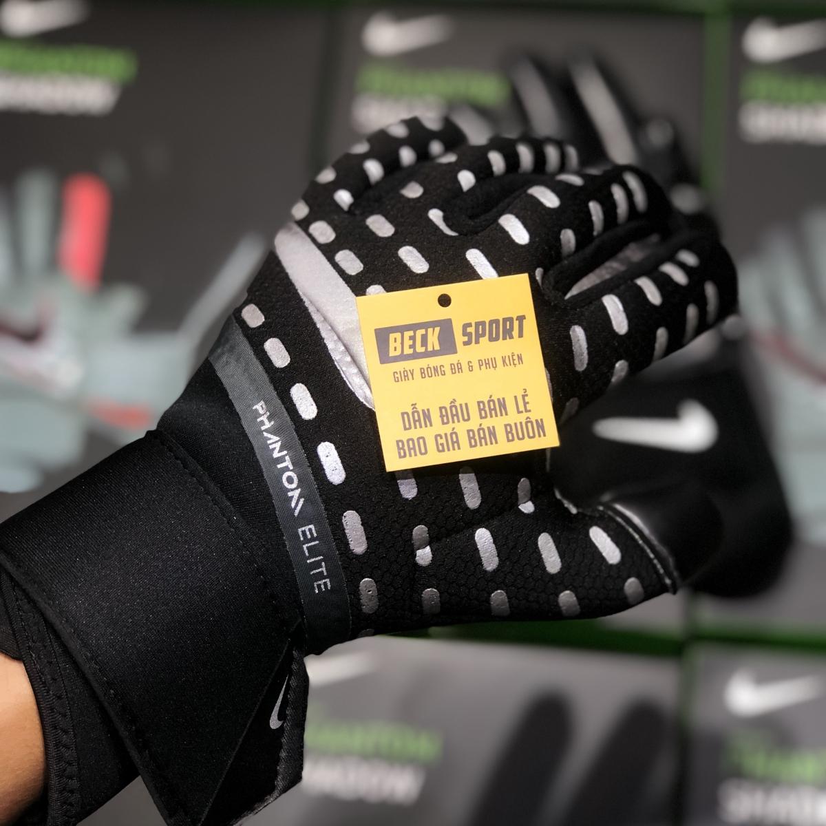 Găng Tay Nike Phantom Elite Đen Vạch Xám ( Không Xương )