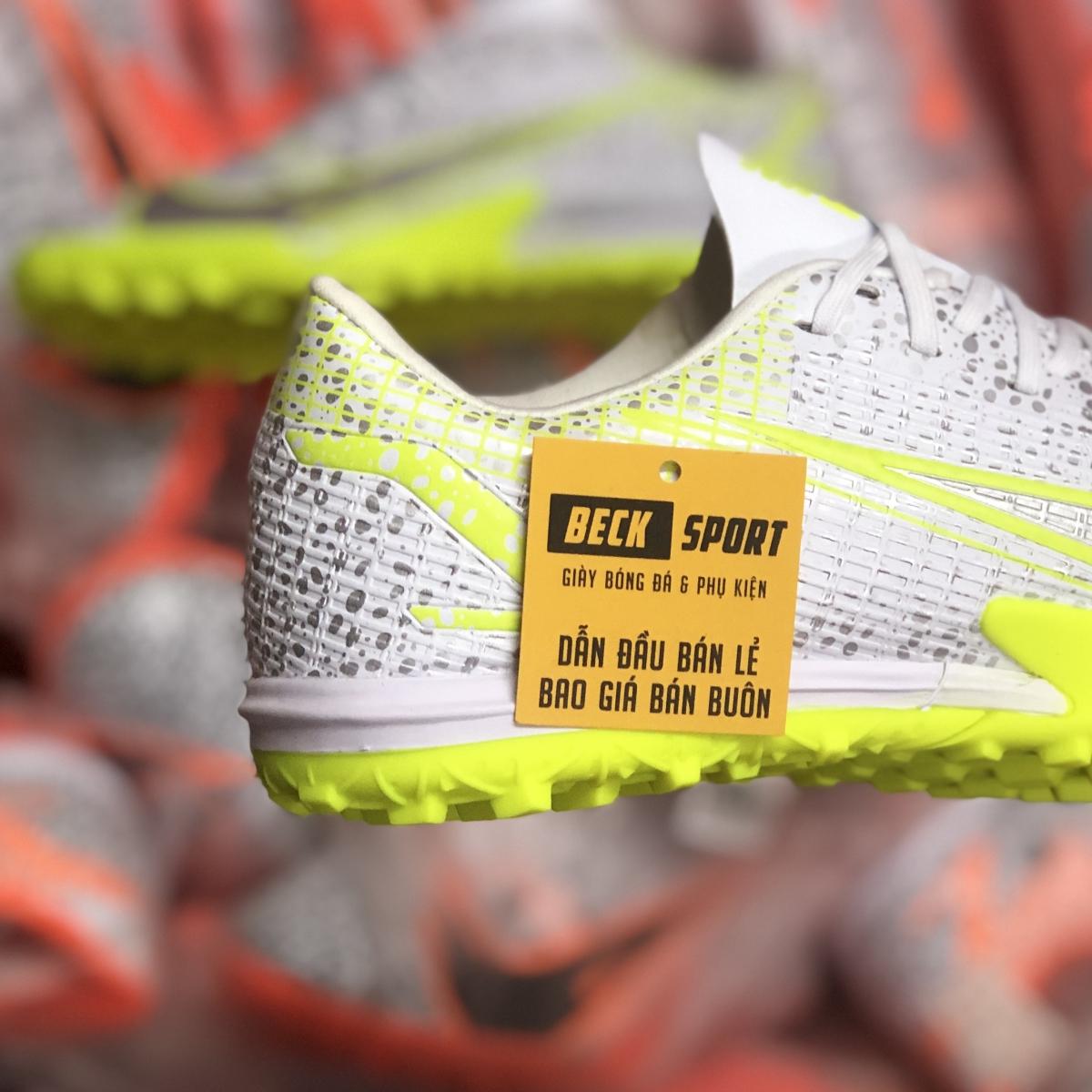 Giày Bóng Đá Nike Mercurial Vapor 14 Academy Safari Trắng Xám Vạch Nõn Chuối V2 TF