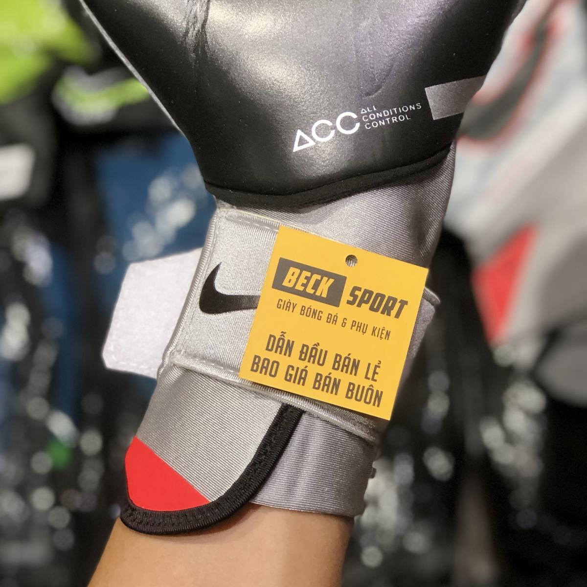 Găng Tay Nike Phantom Elite Xám Vạch Đen HQ ( Không Xương )