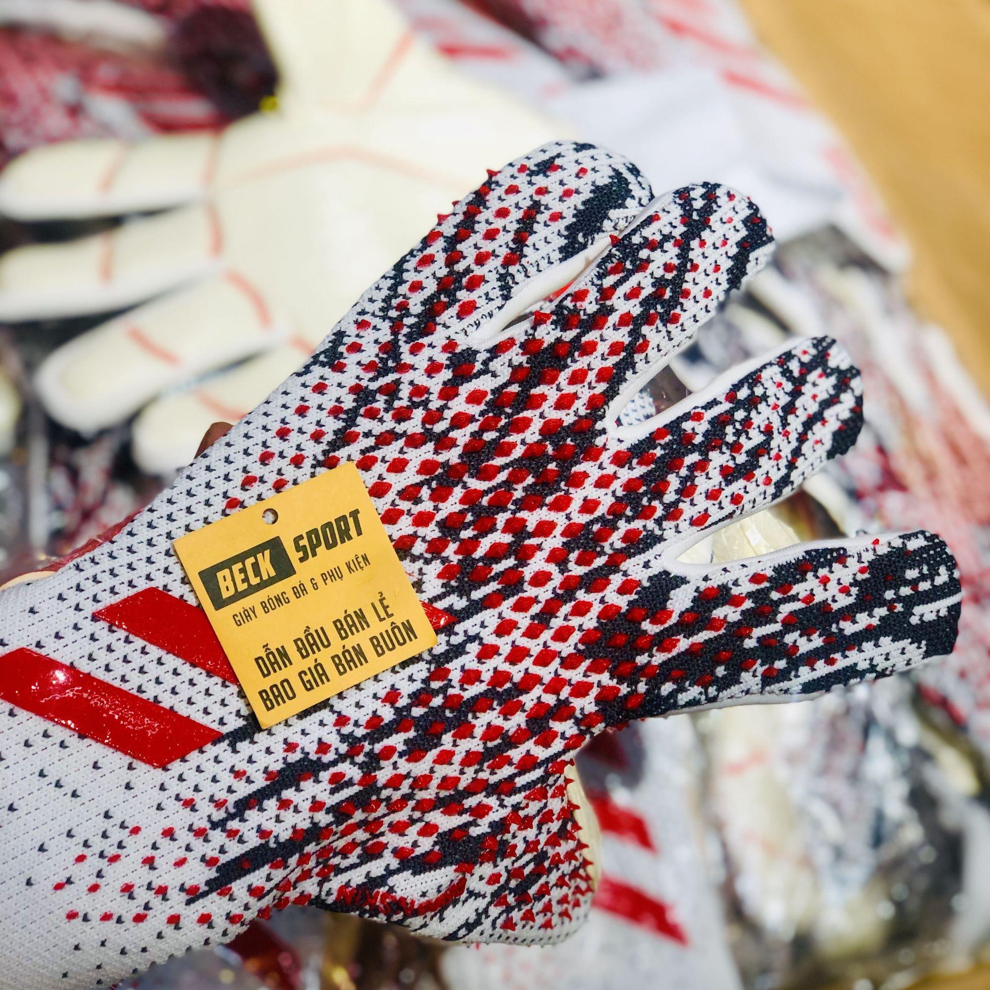 Găng Tay Adidas Predator 20 Pro PC Manuel Neuer Trắng Đen Vạch Đỏ Loại 1 ( Không Xương )