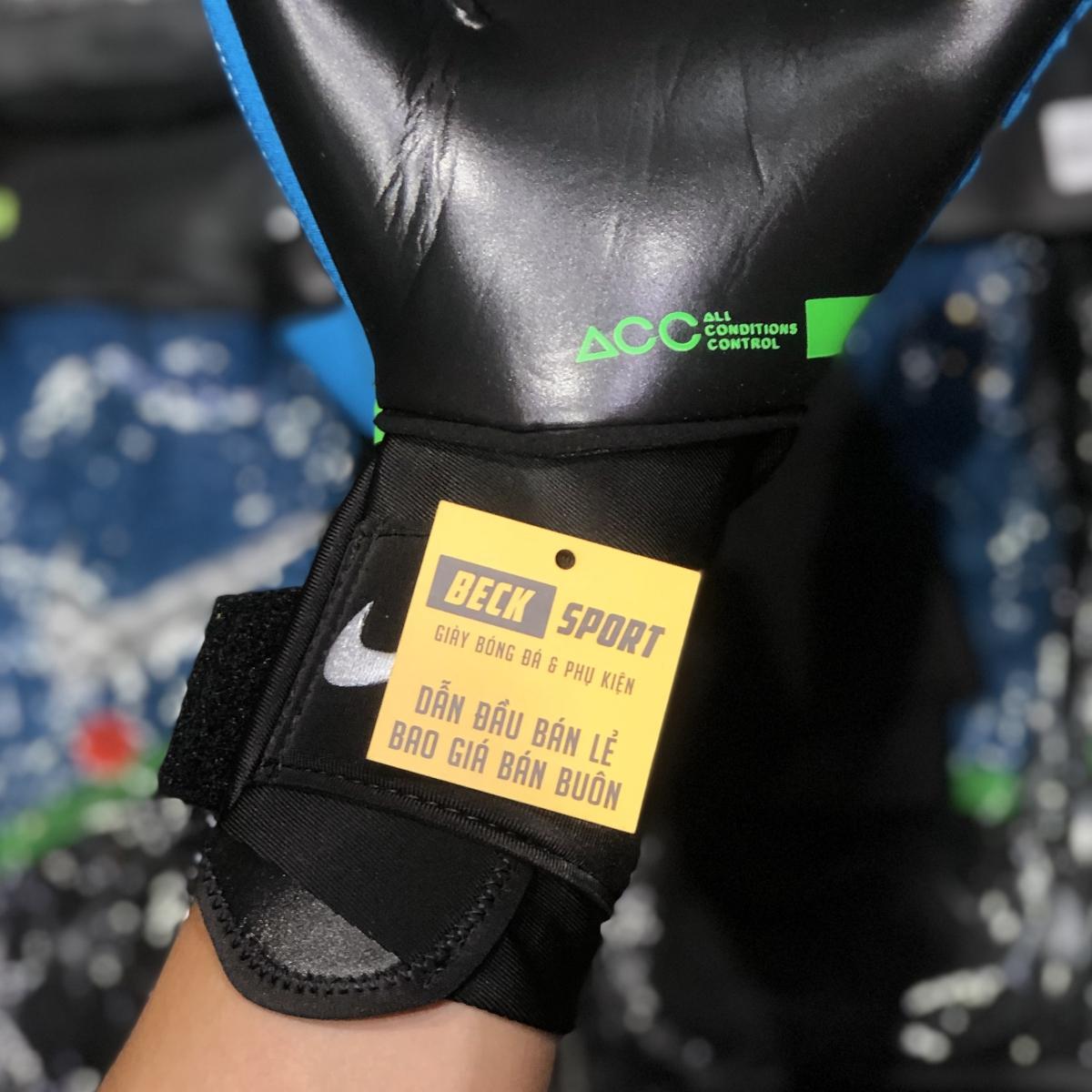 Găng Tay Nike Phantom Elite Xanh Biển Vạch Xám HQ ( Không Xương )