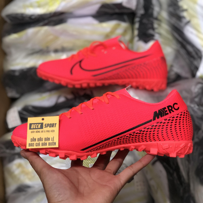 Giày Bóng Đá Nike Mercurial Vapor 13 Academy Đỏ Vạch Đen TF