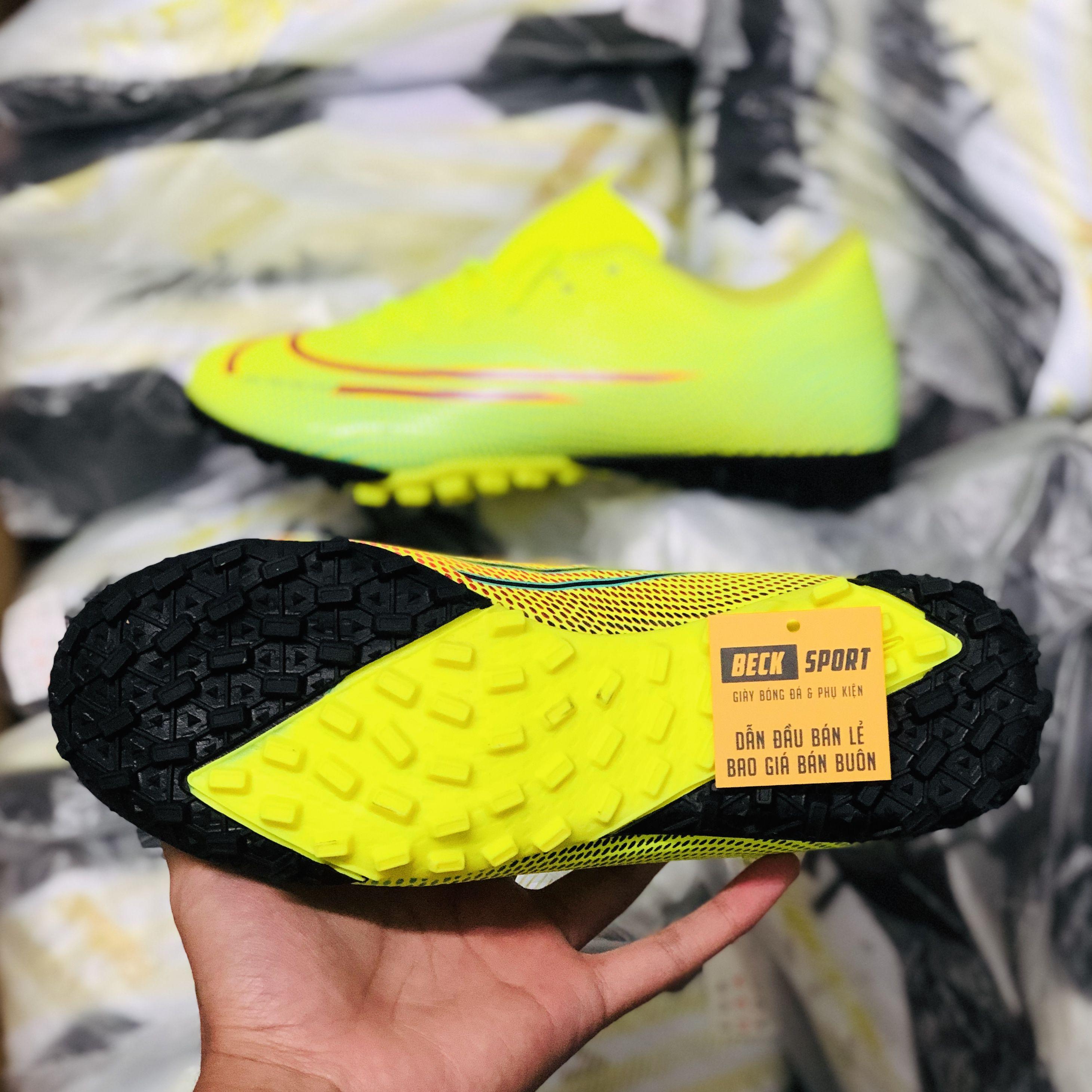 Giày Bóng Đá Nike Mercurial Vapor 13 Academy Dream Speed Nõn Chuối Xanh Ngọc Vạch Đen TF