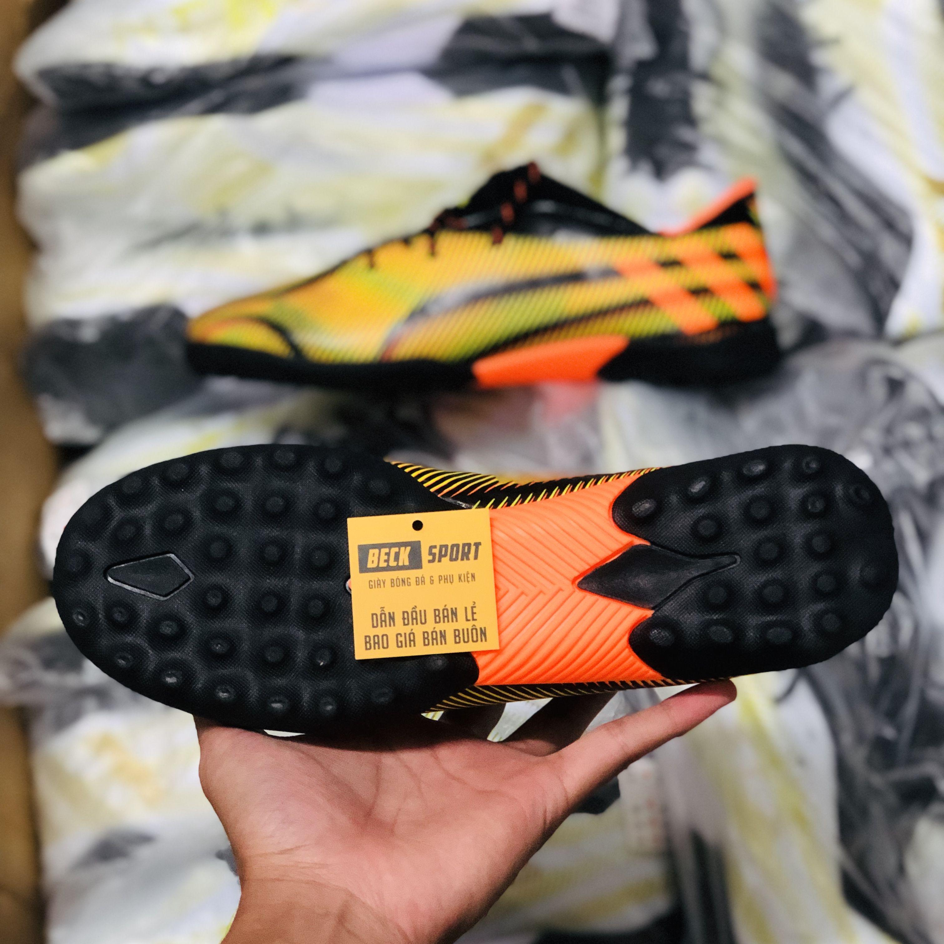 Giày Bóng Đá Adidas Nemeziz 20.3 Đen Vạch Cam TF