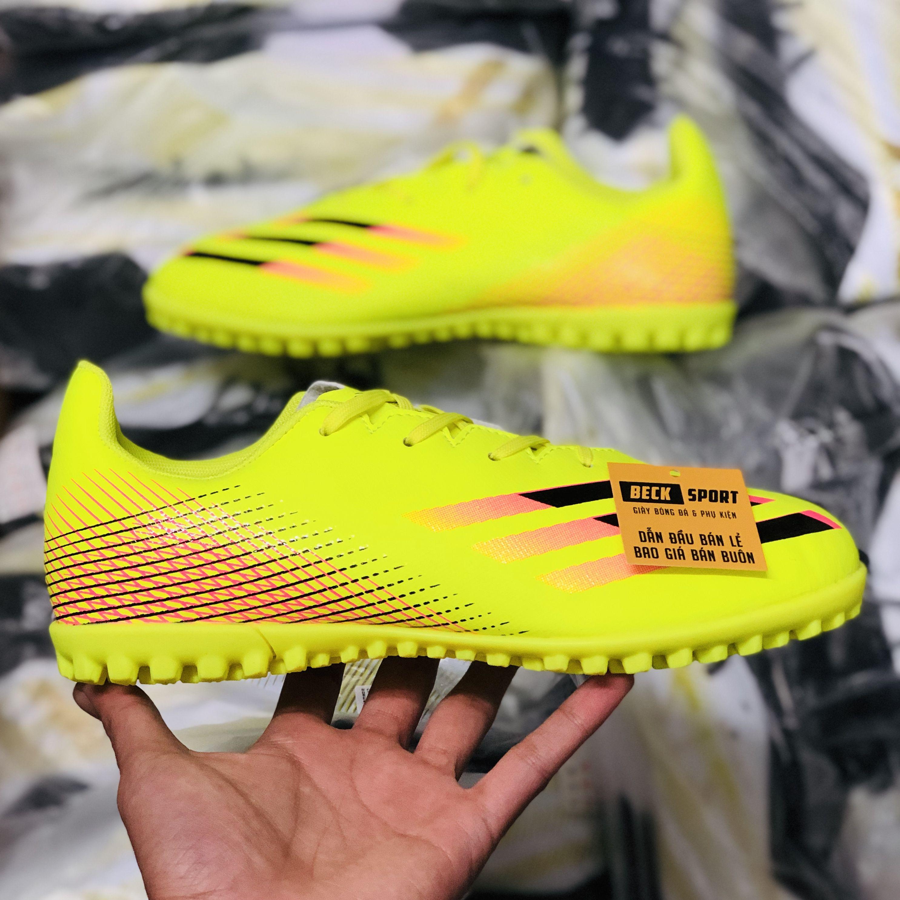 Giày Bóng Đá Adidas X Ghosted.4 Vàng Vạch Đen TF