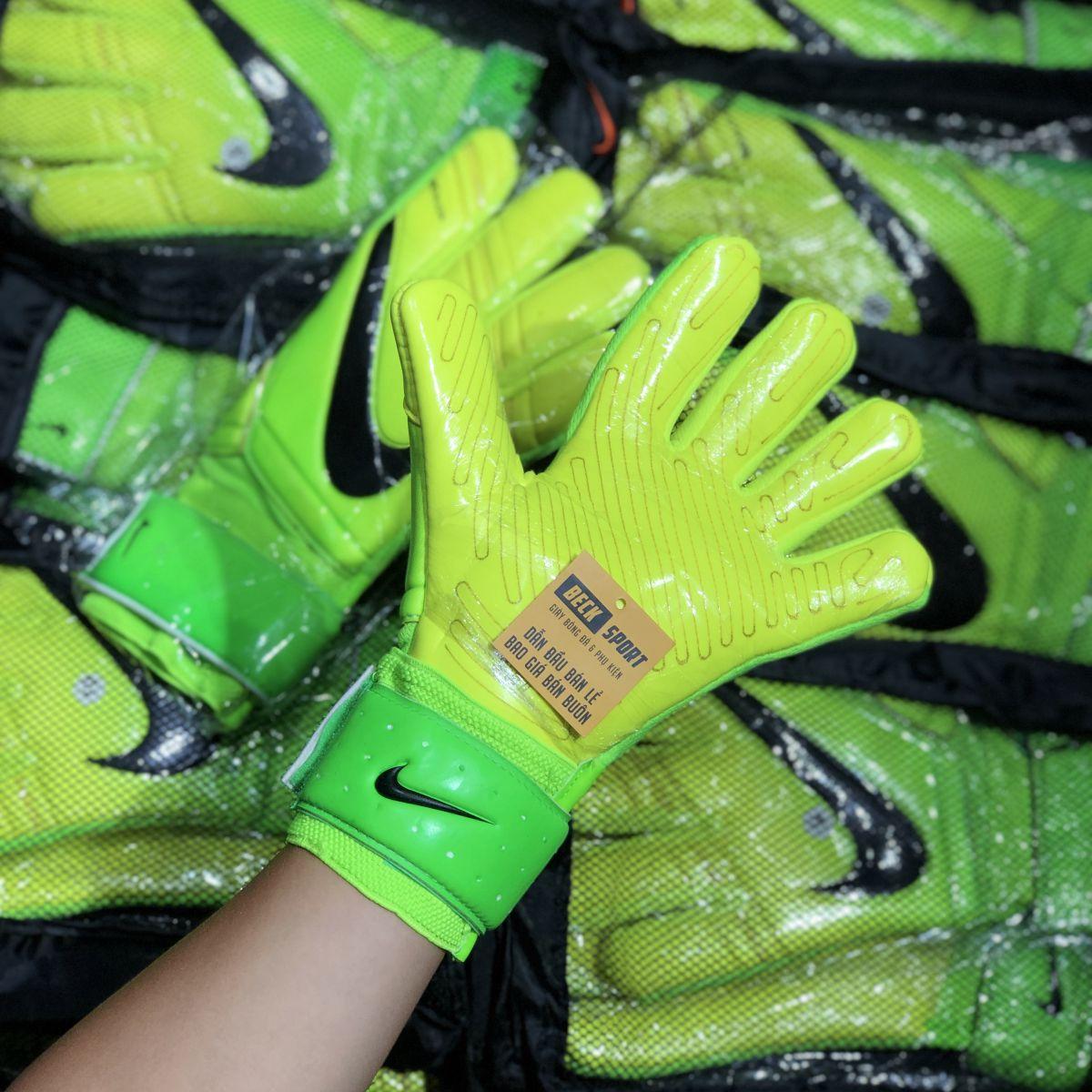 Găng Tay Nike Premier SGT Xanh Chuối Vạch Đen ( Không Xương)