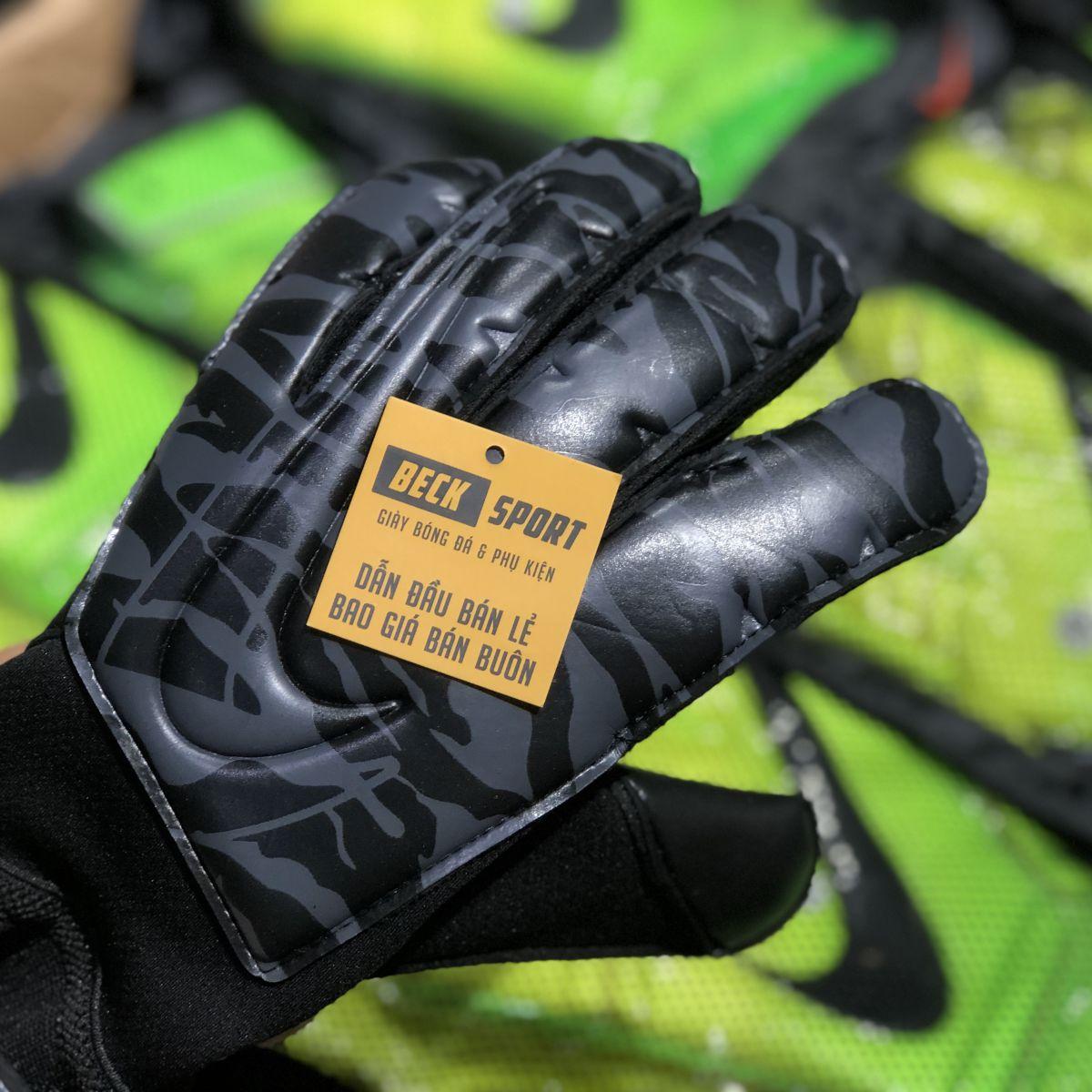 Găng Tay Nike Vapor Grip 3 Xám Đen Rằn Ri ( Không Xương)