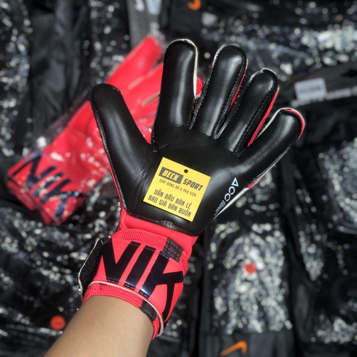 Găng Tay Nike Vapor Grip 3 Hồng Vạch Xanh Than ( Không Xương)