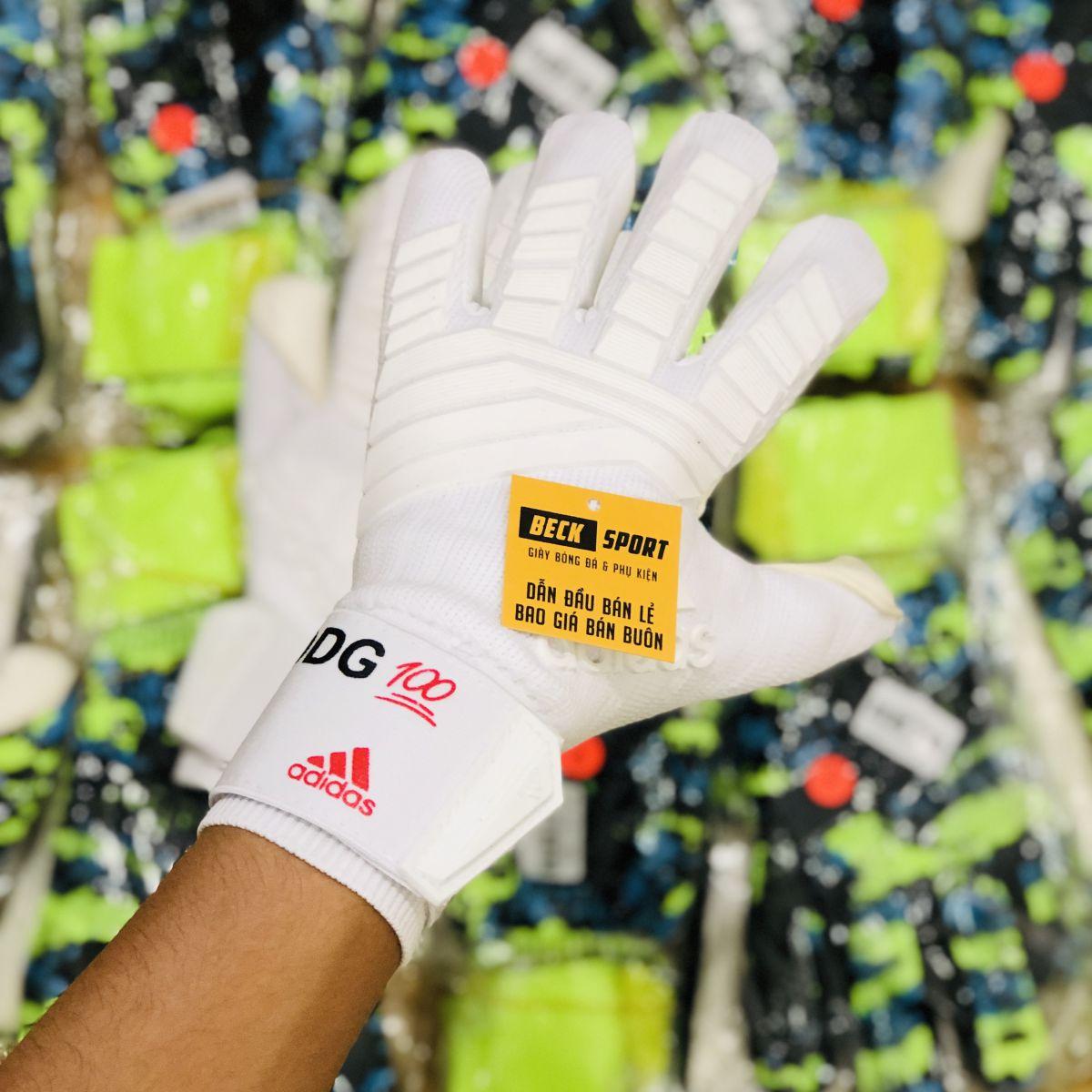 Găng Tay Adidas Predator Pro NC DE GEA 100 Trắng Tuyền ( Không Xương)