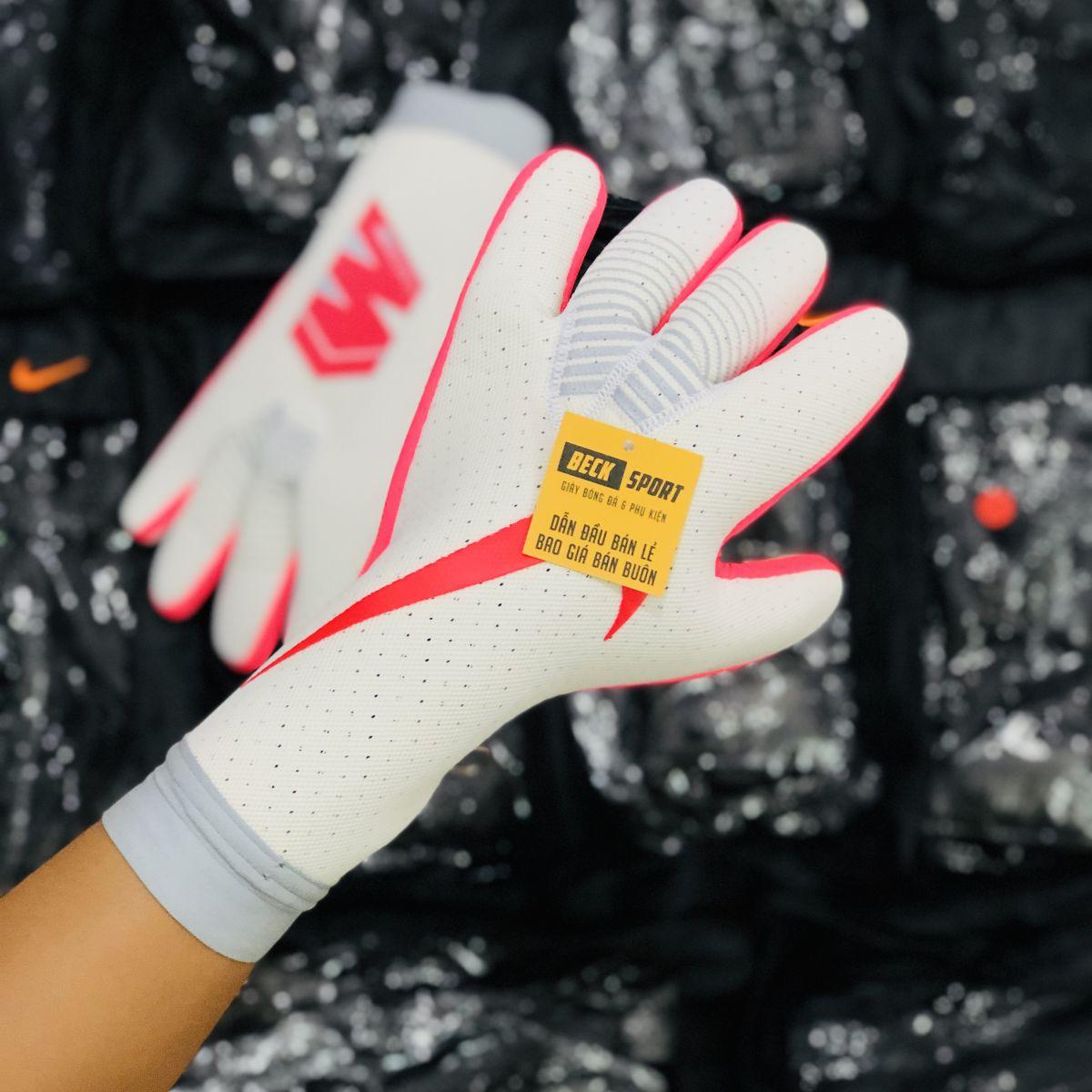 Găng Tay Nike Mercurial Touch Trắng Hồng ( Không Xương)