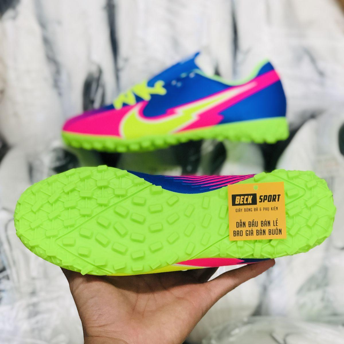 Giày Bóng Đá Nike Mercurial Vapor 13 Academy Xanh Biển Hồng Vạch Chuối V3 TF