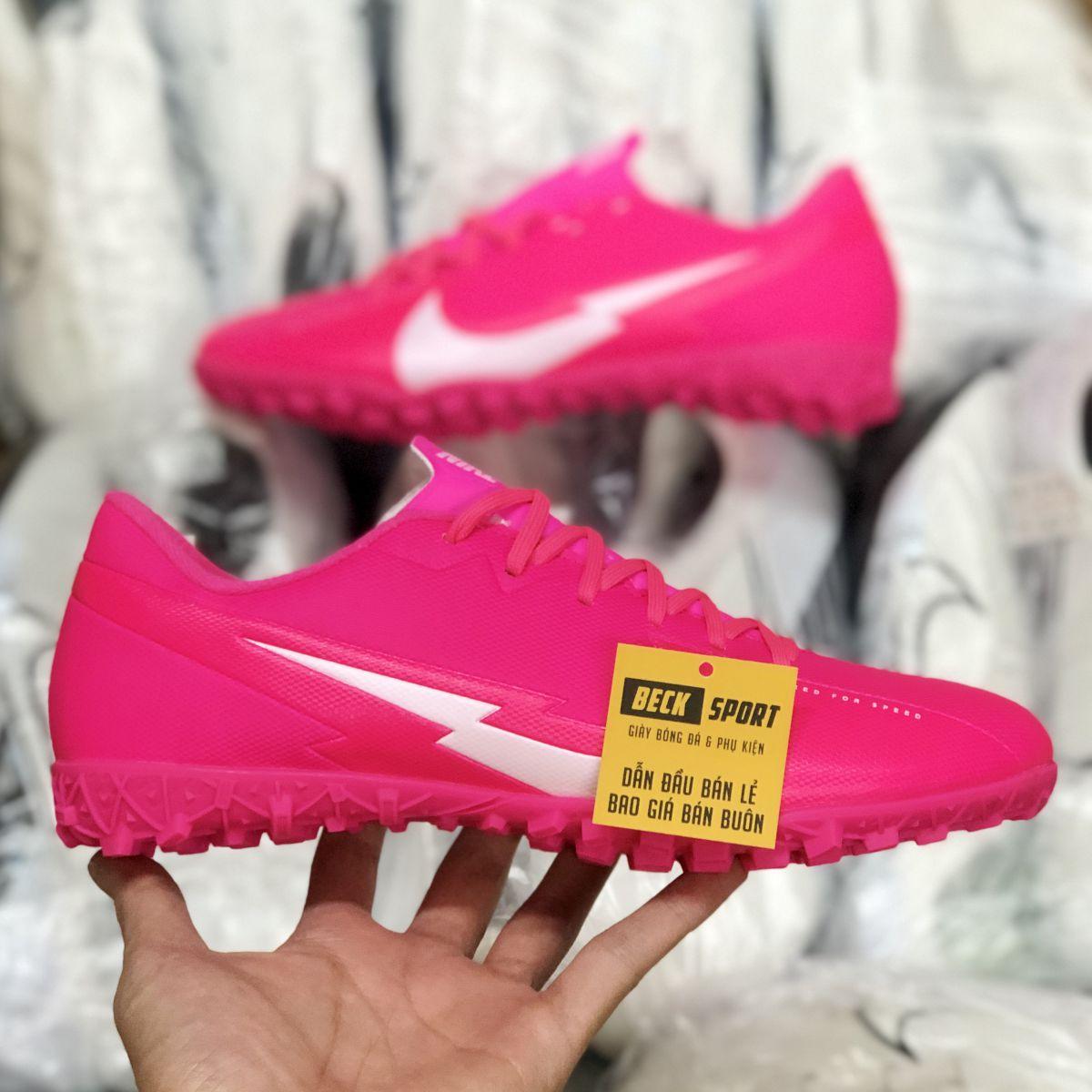 Giày Bóng Đá Nike Mercurial Vapor 13 Academy Hồng Vạch Trắng V3 TF