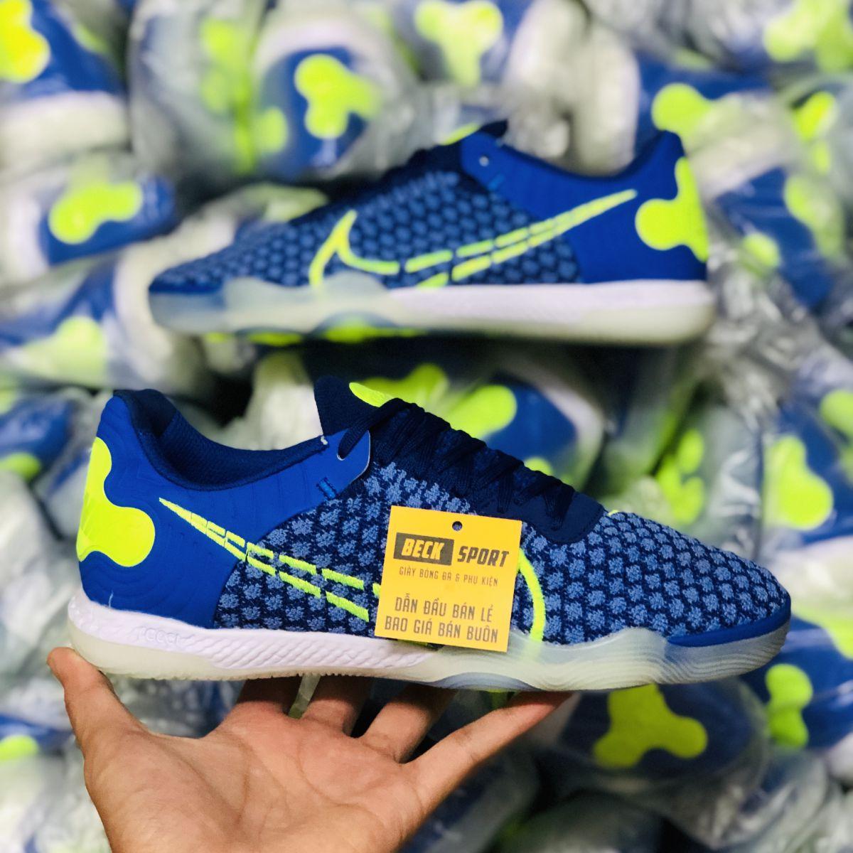 Giày Bóng Đá Nike React Gato Skycourt Xanh Biển Vạch Chuối IC