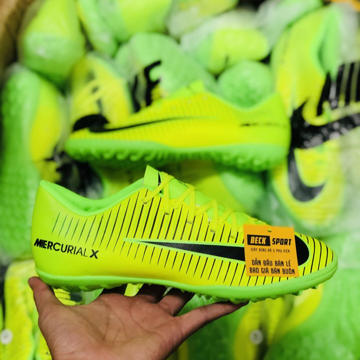 Giày Bóng Đá Nike MercurialX Nõn Chuối Xanh Lá Vạch Đen TF