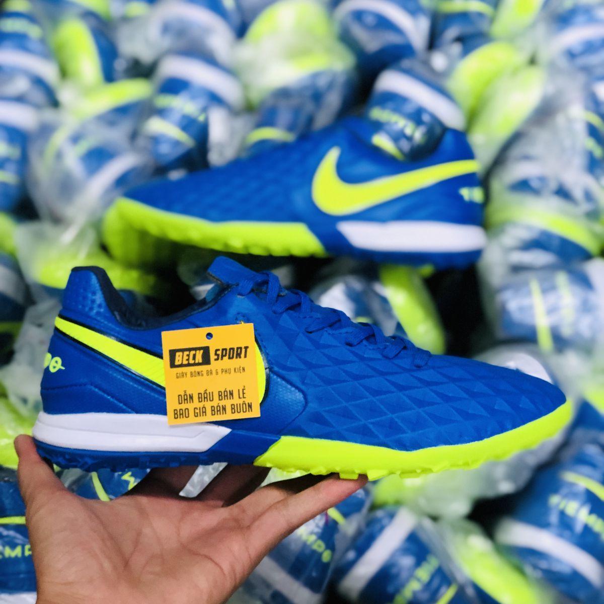 Giày Bóng Đá Nike Tiempo Legend 8 Pro Xanh Biển Vạch Chuối V2 TF