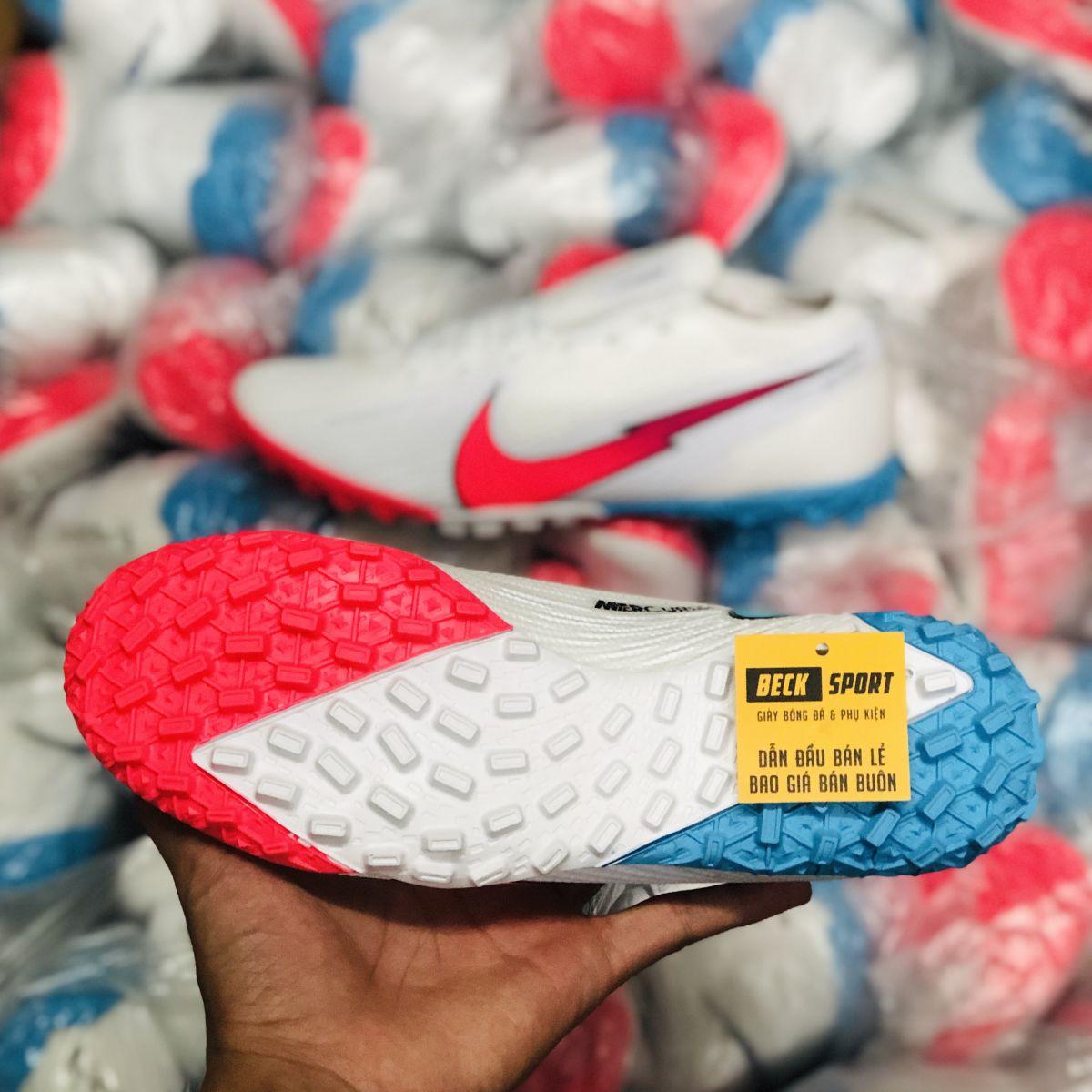 Giày Bóng Đá Nike Mercurial Vapor 13 Elite Olympics Trắng Vạch Hồng TF