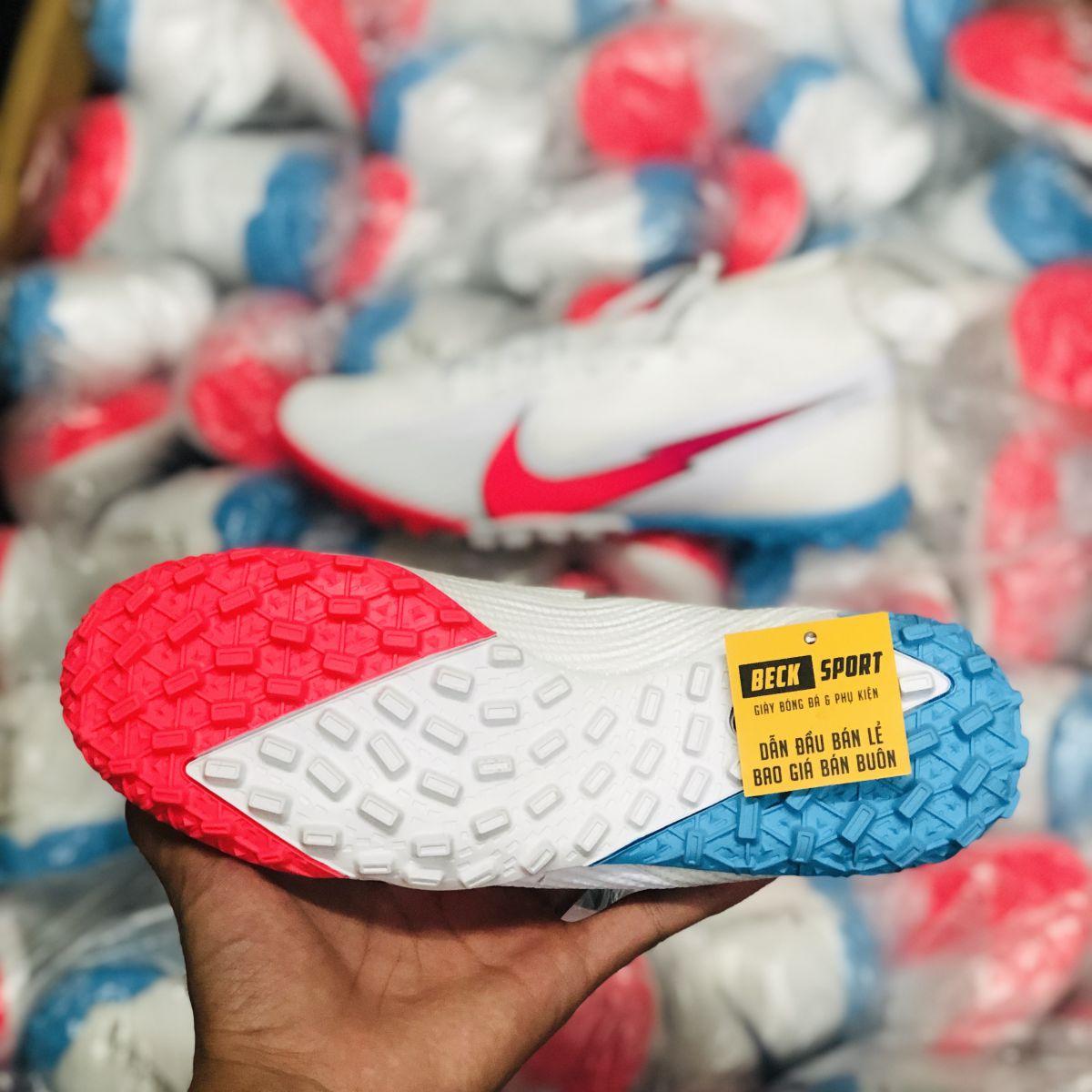 Giày Bóng Đá Nike Mercurial Superfly 13 Elite Olympics Trắng Vạch Hồng Cao Cổ TF