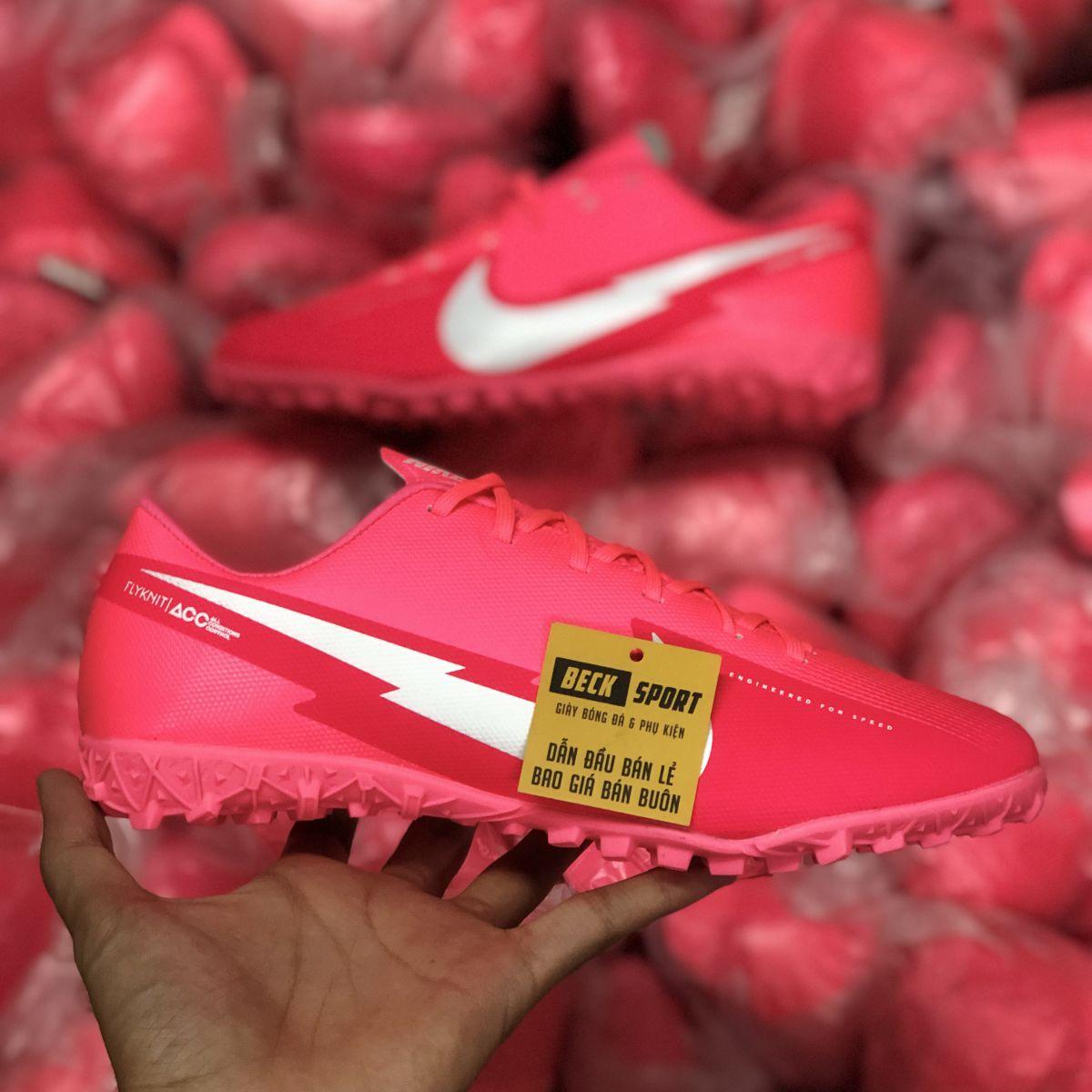 Giày Bóng Đá Nike Mercurial Vapor 13 Academy Hồng Vạch Trắng V2 TF