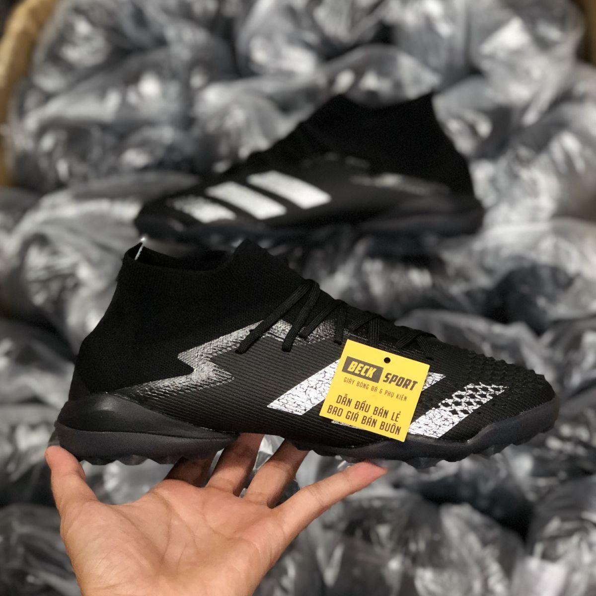 Giày Bóng Đá Adidas Predator 20.1 Shadowbeast Đen Vạch Xám Cao Cổ TF