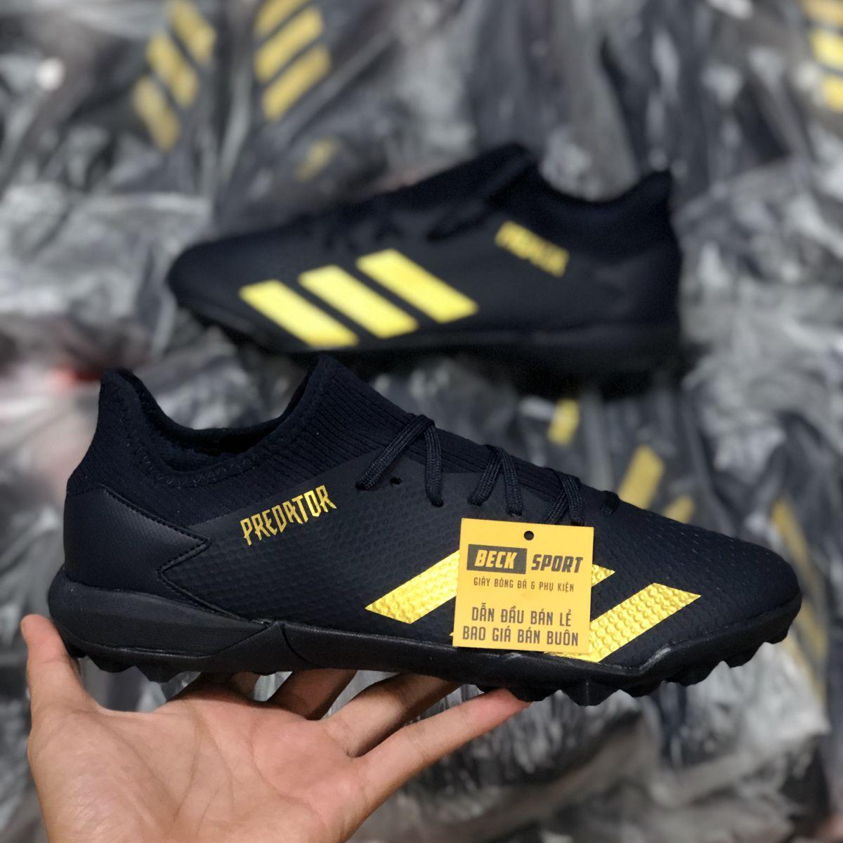Giày Bóng Đá Adidas Predator 20.3 Xanh Than Vạch Đồng HQ TF