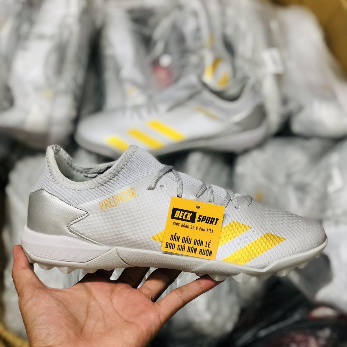 Giày Bóng Đá Adidas Predator 20.3 Xám Vạch Đồng HQ TF