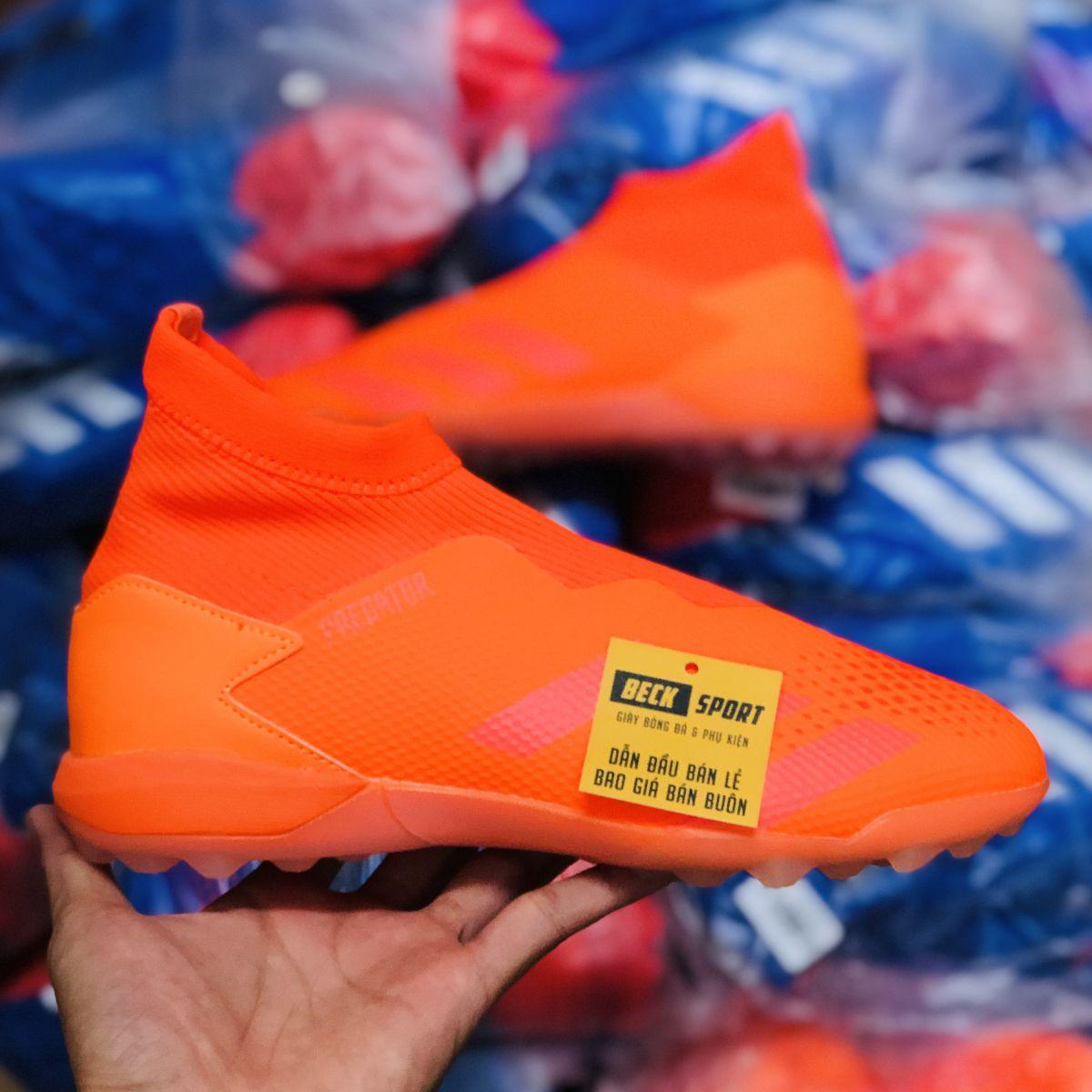 Giày Bóng Đá Adidas Predator 20.3 LL Locality Đỏ Cam Không Dây Cao Cổ TF