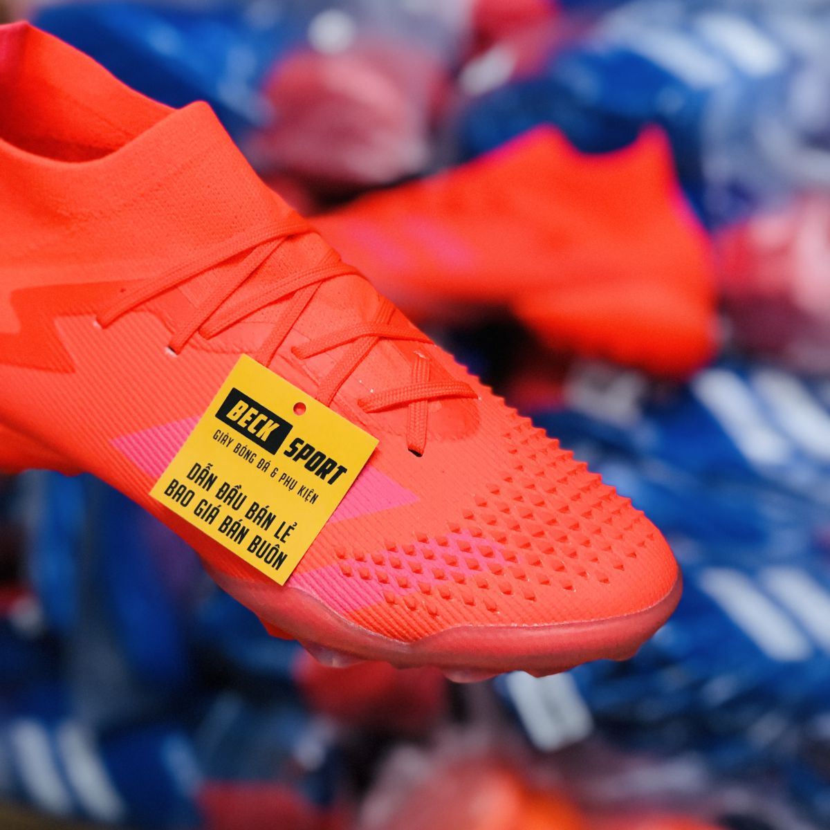 Giày Bóng Đá Adidas Predator 20.1 Locality Đỏ Cam Cổ Cao TF