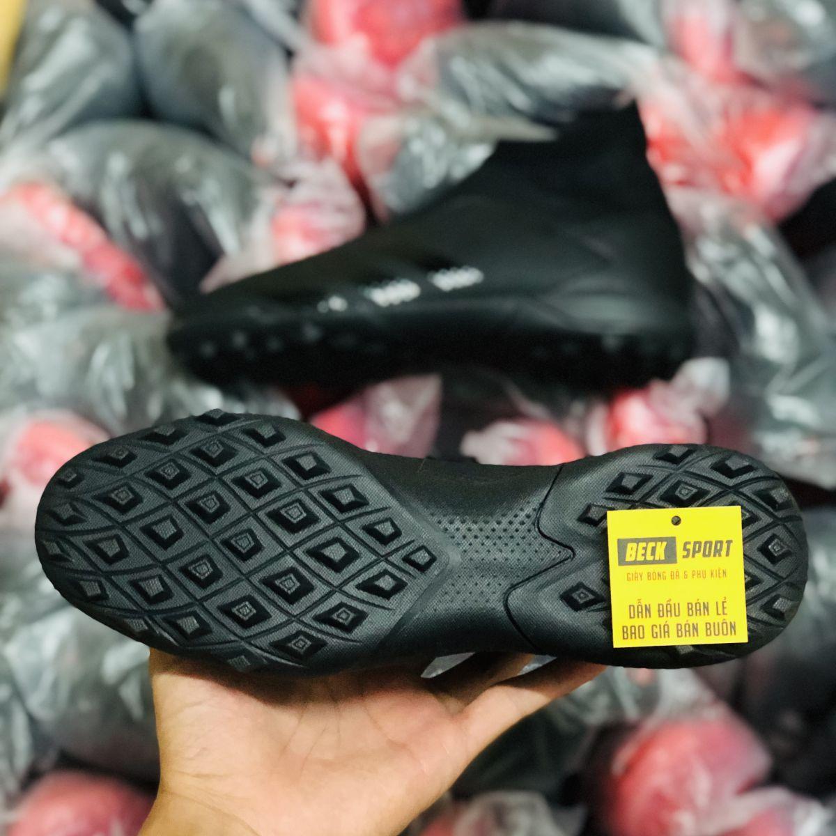Giày Bóng Đá Adidas Predator 20.3 LL Đen Tuyền Không Dây Cao Cổ TF