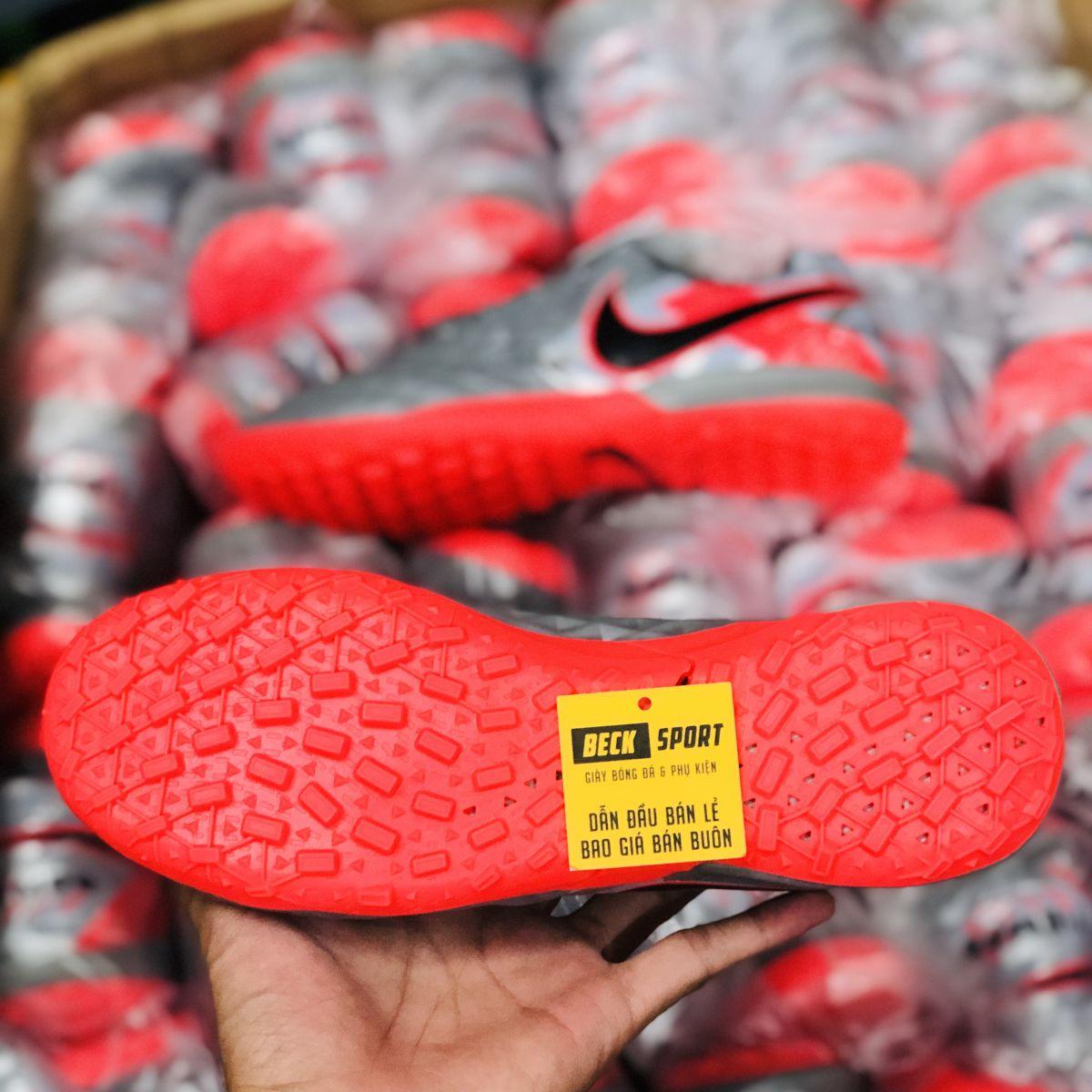 Giày Bóng Đá Nike Tiempo Legend 8 Academy Xám Hồng Vạch Đen TF