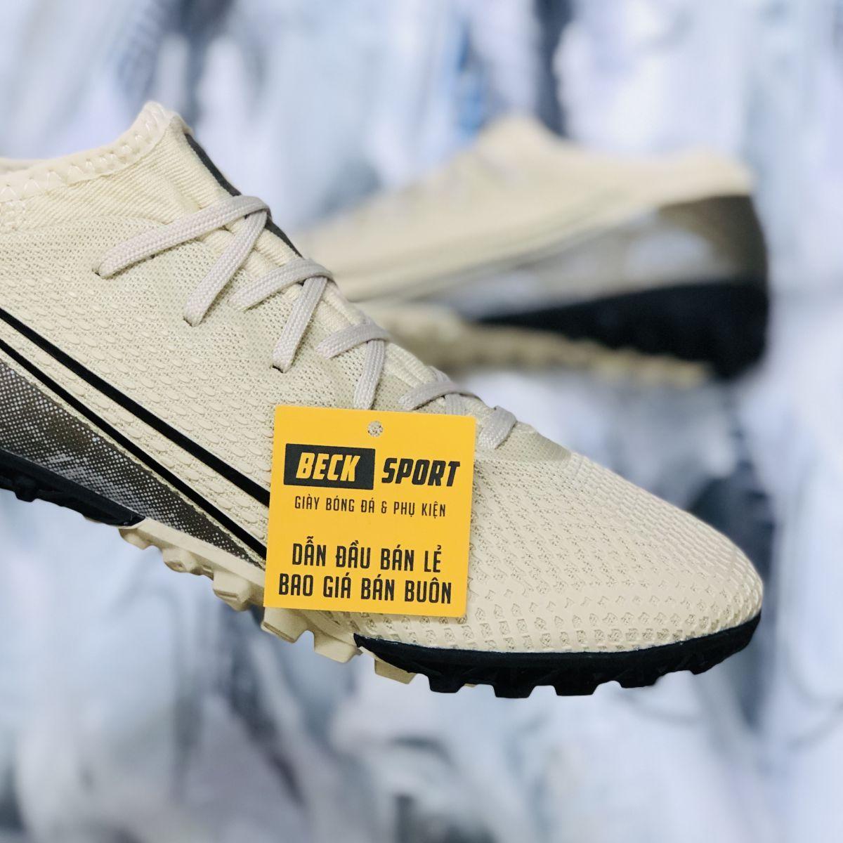 Giày Bóng Đá Nike Mercurial Vapor 13 Pro Nâu Vạch Đen Cổ Lửng TF