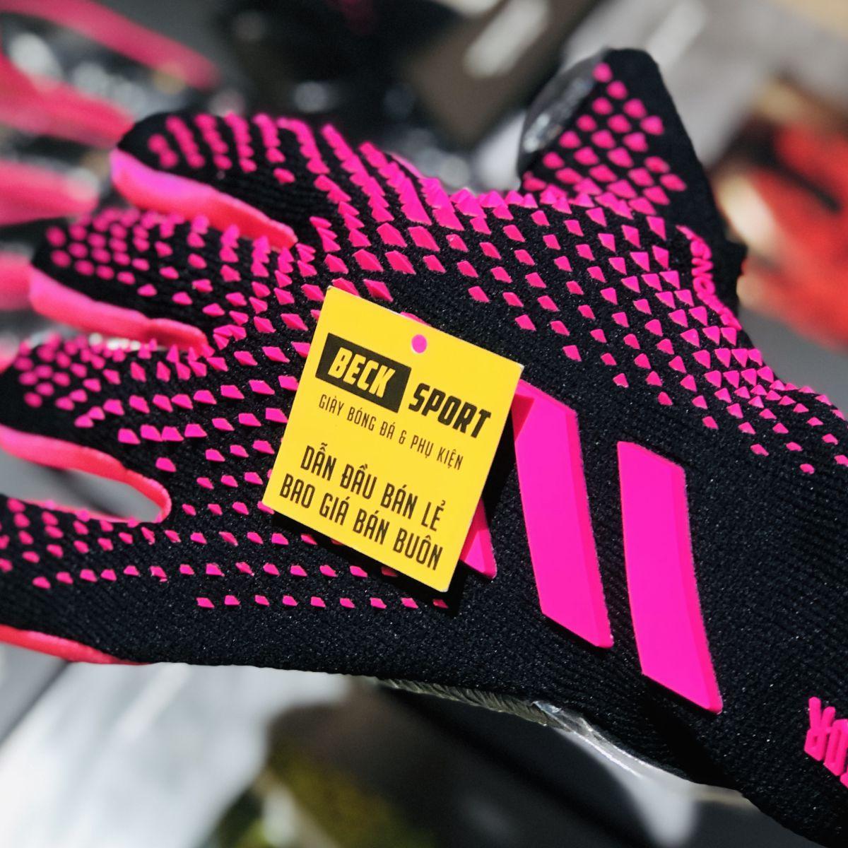 Găng Tay Adidas Predator 20 Pro PC Đen Vạch Tím V2 ( Không Xương )