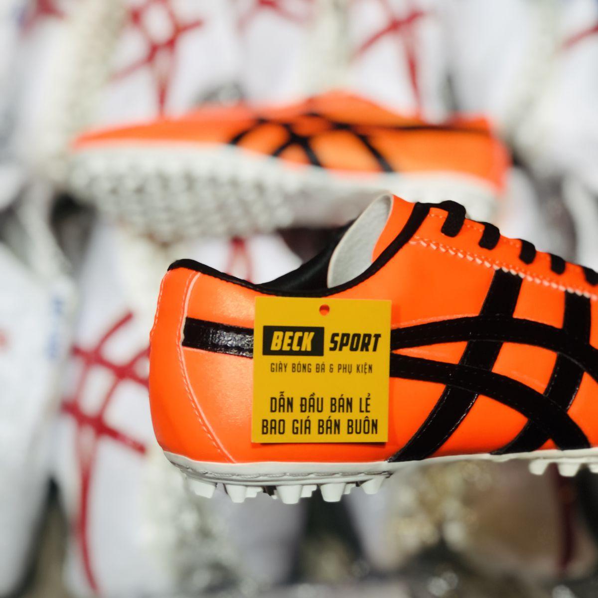 Giày Phủi Onisuka Tiger Loại 1 - Beck Cam Sọc Đen